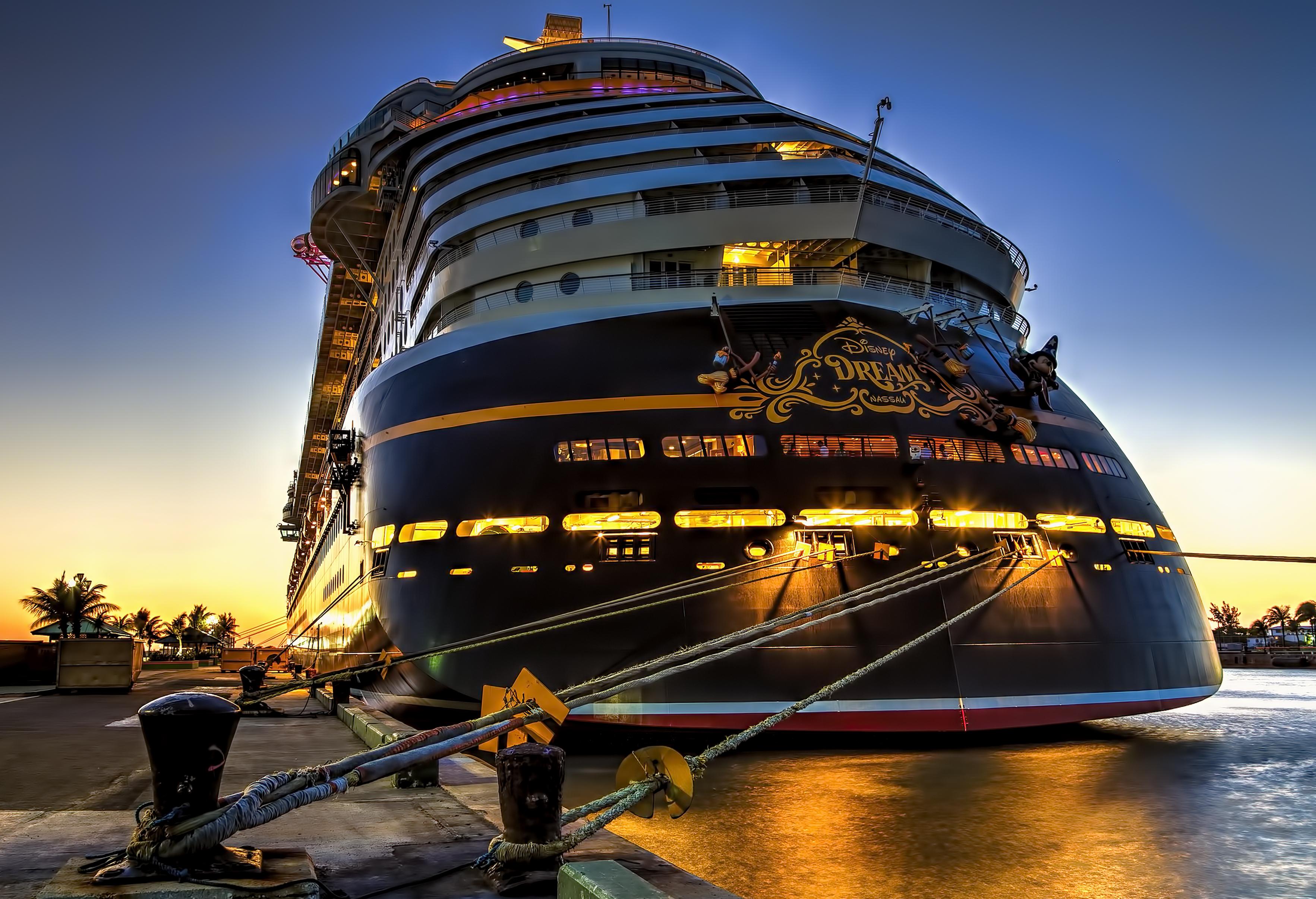 Wallpaper Ocean Voyage Park Cruise Blue Sunset Sea