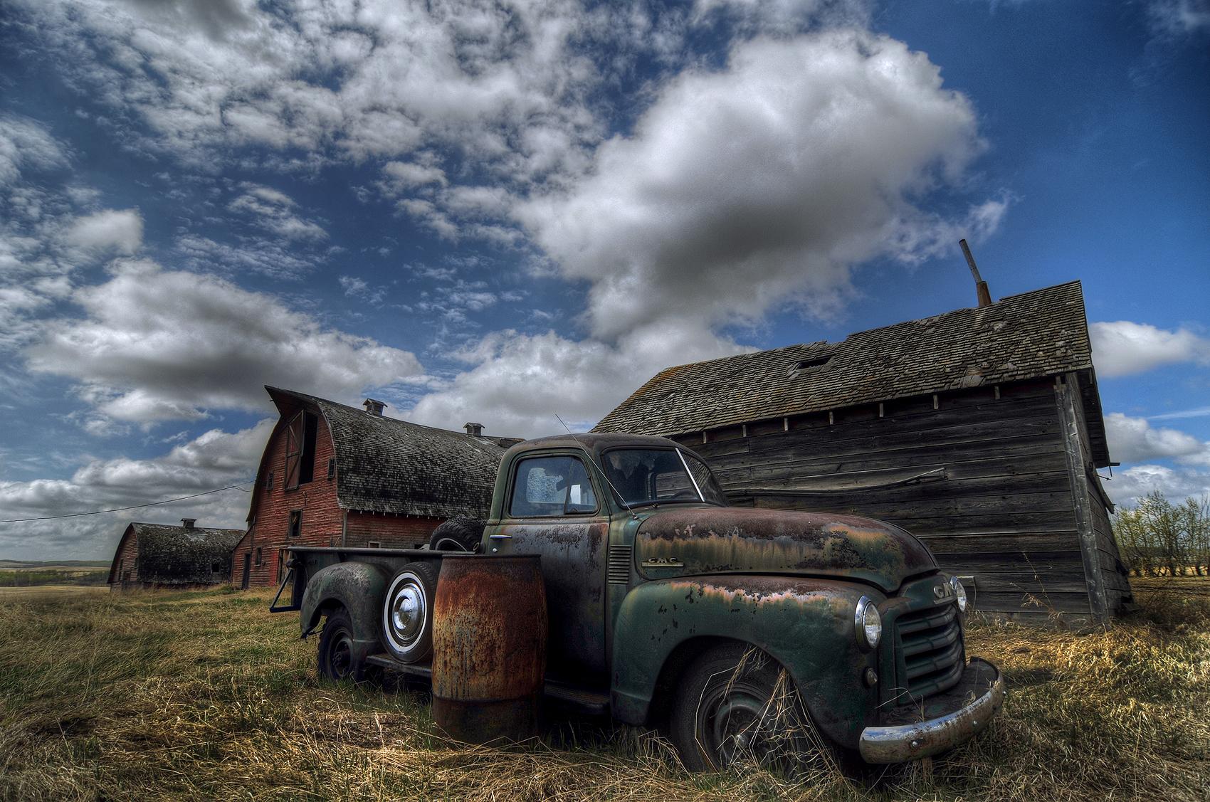 Wallpaper : Old, Car, Abandoned, Sky, Vehicle, Farm