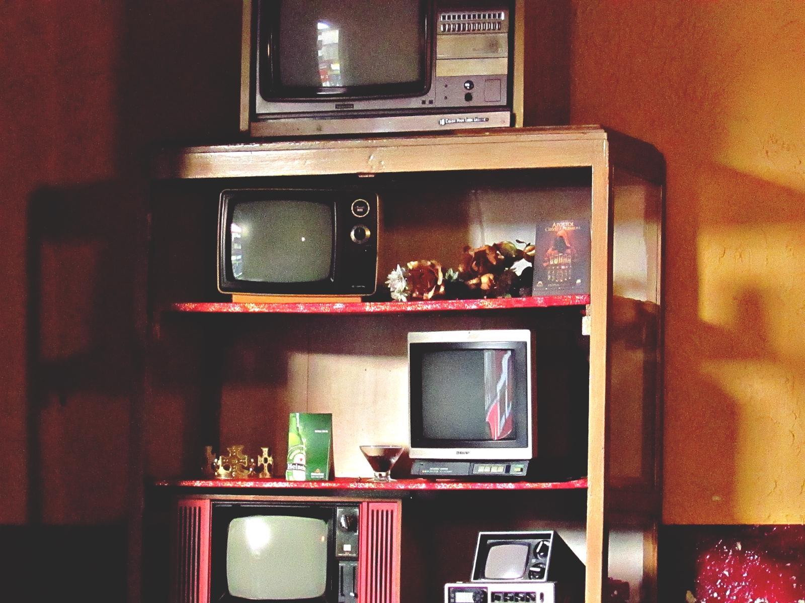 Fond D Cran Vieux Caf Canon La Technologie Cru Tag Re  # Meuble Tv Voyage