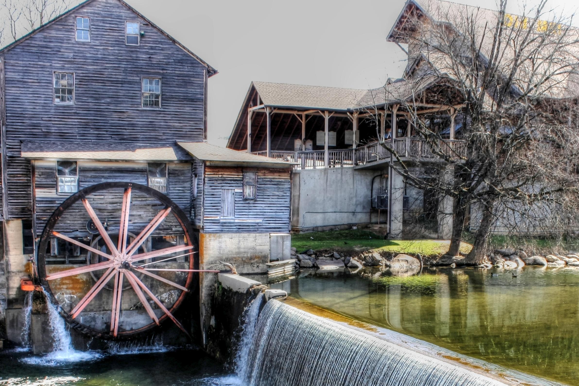 Картинка водяной мельницы