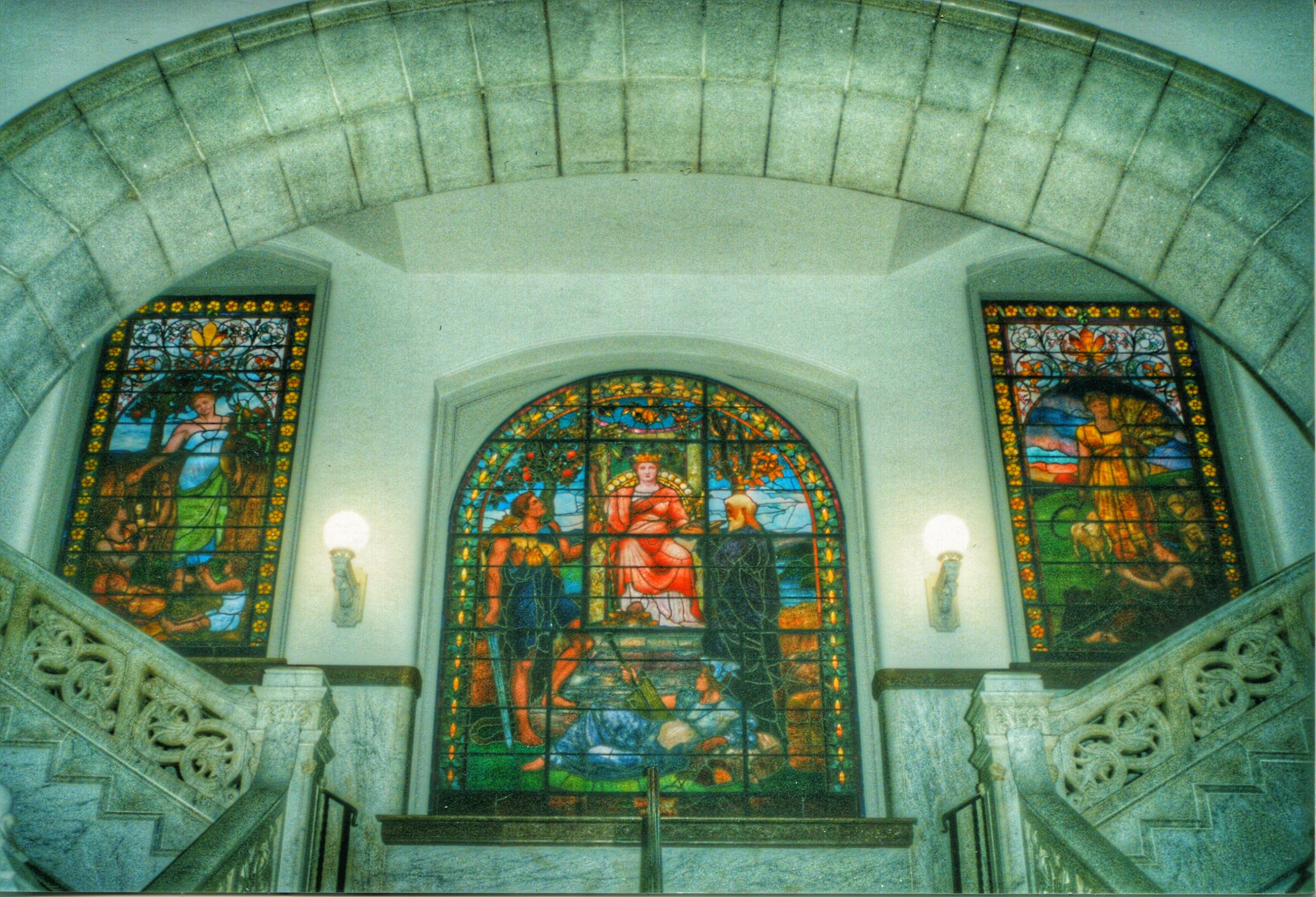 Обои лестница, Цвет, Витраж, стекло, окно. Города foto 11