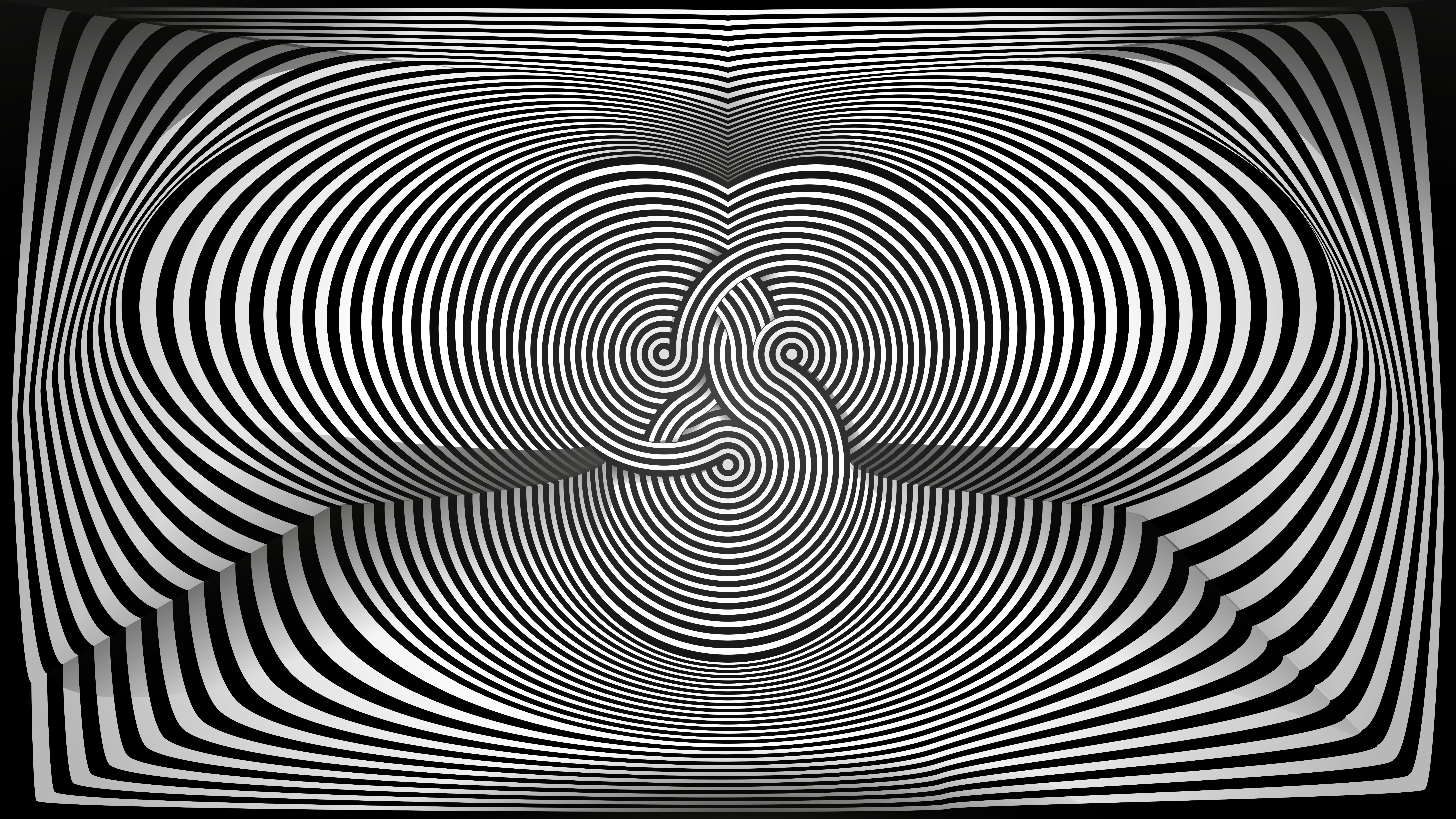 Fond Décran Illusion Doptique Optical Art Noir Blanc