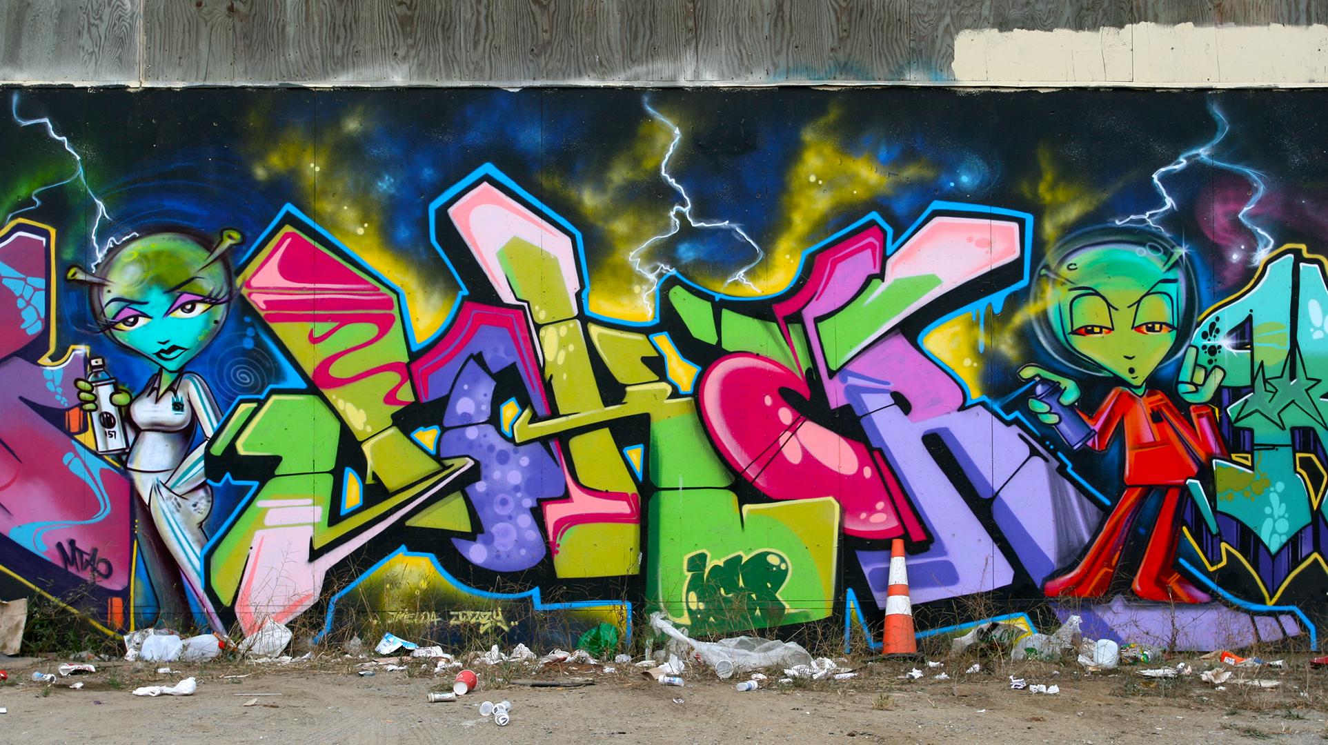 Painting Joker California Graffiti Street Art Mural ART Area Sanfrancisco King157 Characters Icp Visual Arts