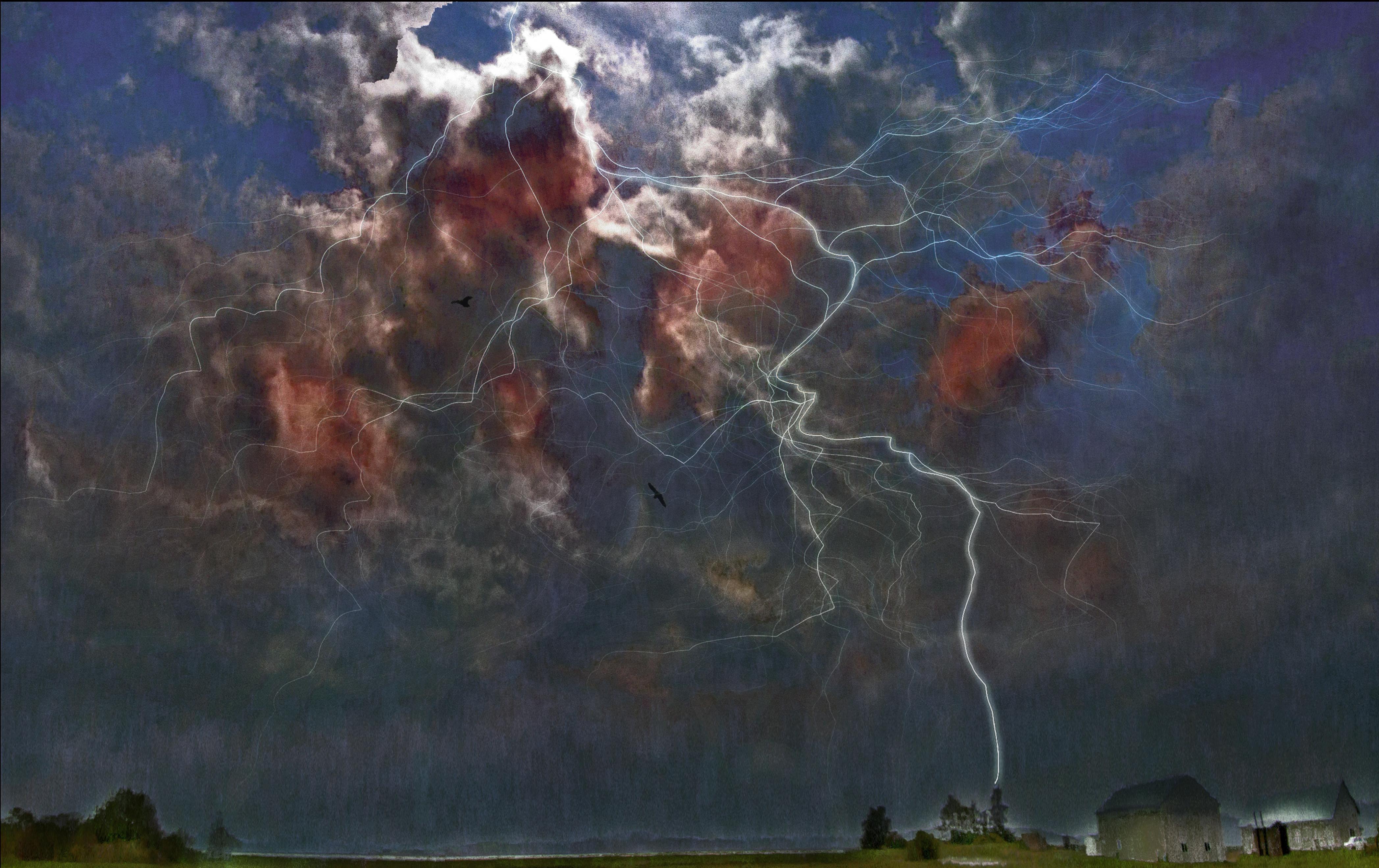 Masaustu Boyama Photoshop Gokyuzu Bulutlar Gercekustu