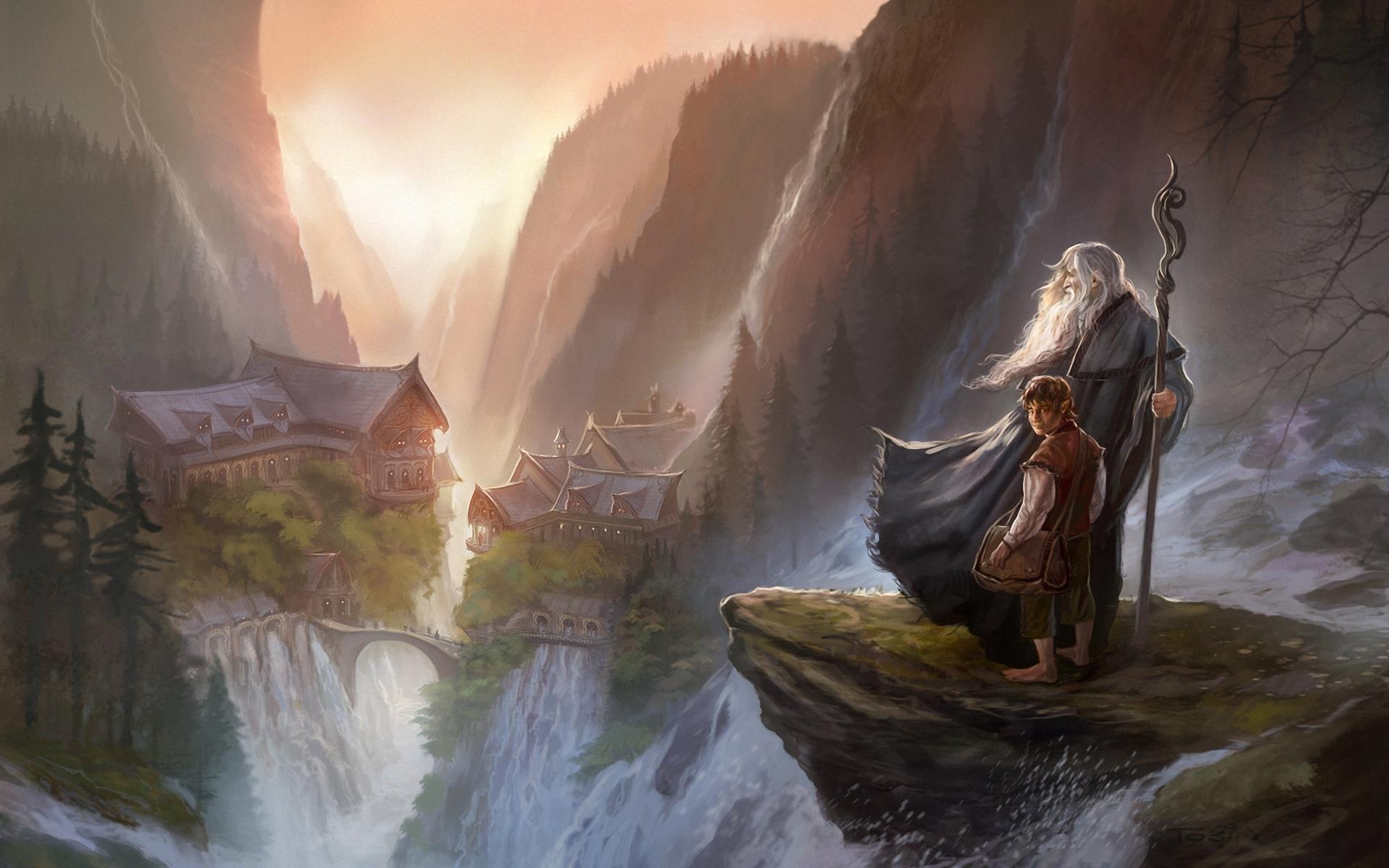 Fond Décran La Peinture Le Seigneur Des Anneaux Gandalf