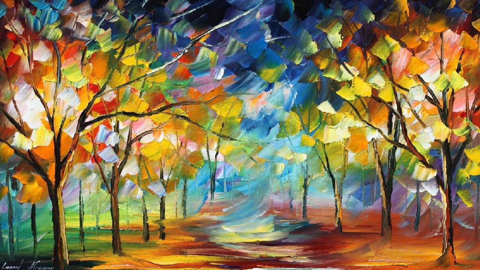 Wallpaper Lukisan Abstrak 1920x1080 Gorwozo 1139206