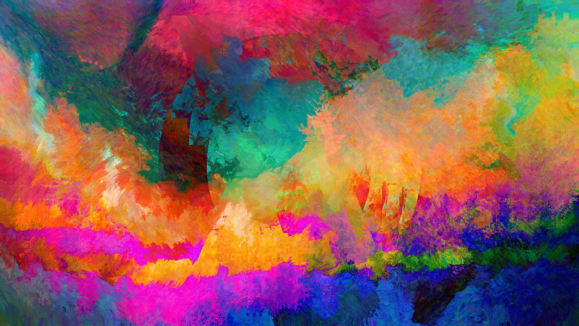 Wallpaper Lukisan Abstrak Art Kesalahan Lsd Tekstur