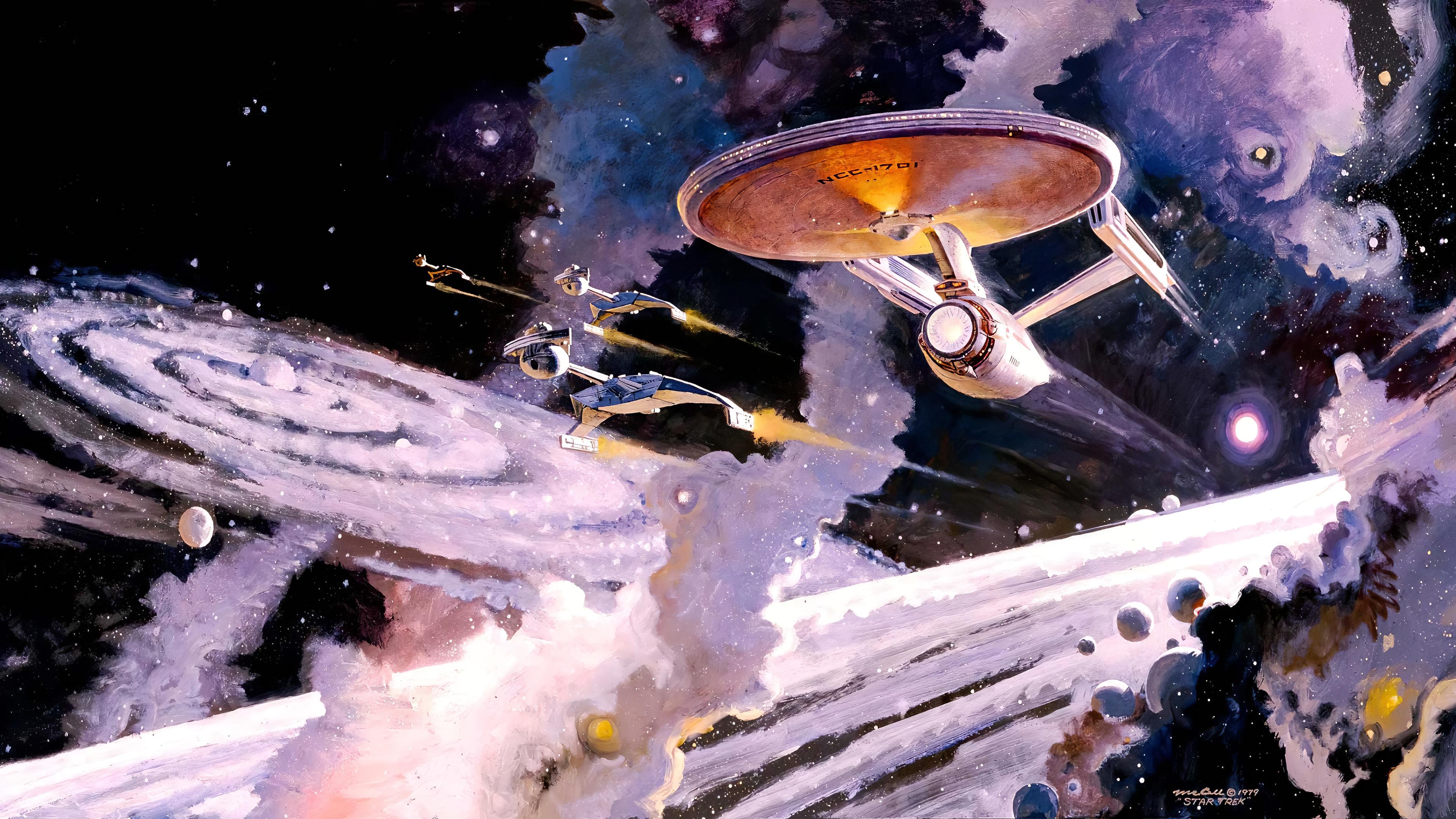 Masaustu Boyama Resim Bosluk Evren Star Trek Star Trek Tos