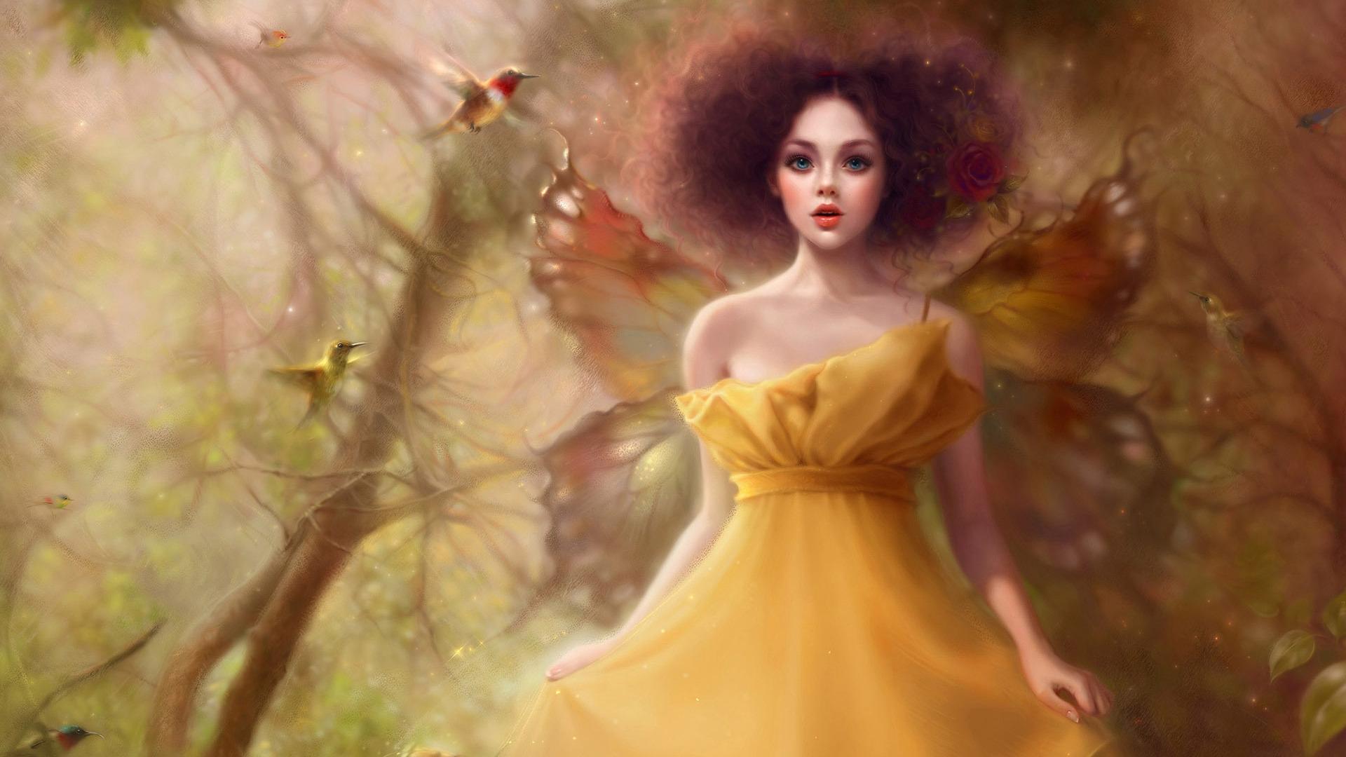 картинка фея в осеннем лесу счет асимметрии платье