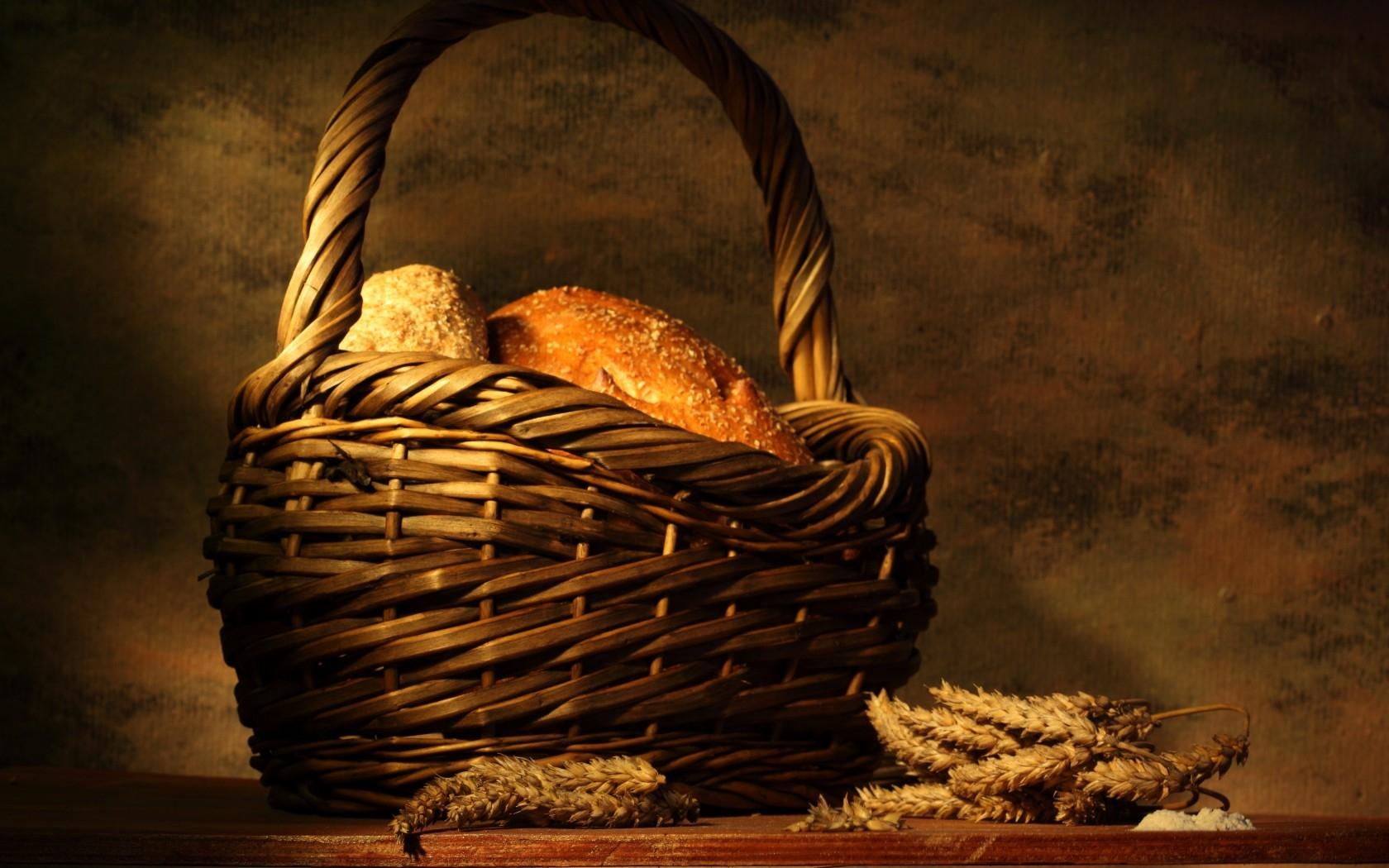 Masaüstü Boyama Ekmek Tablo Ahşap Sepet Kulaklar Sanat