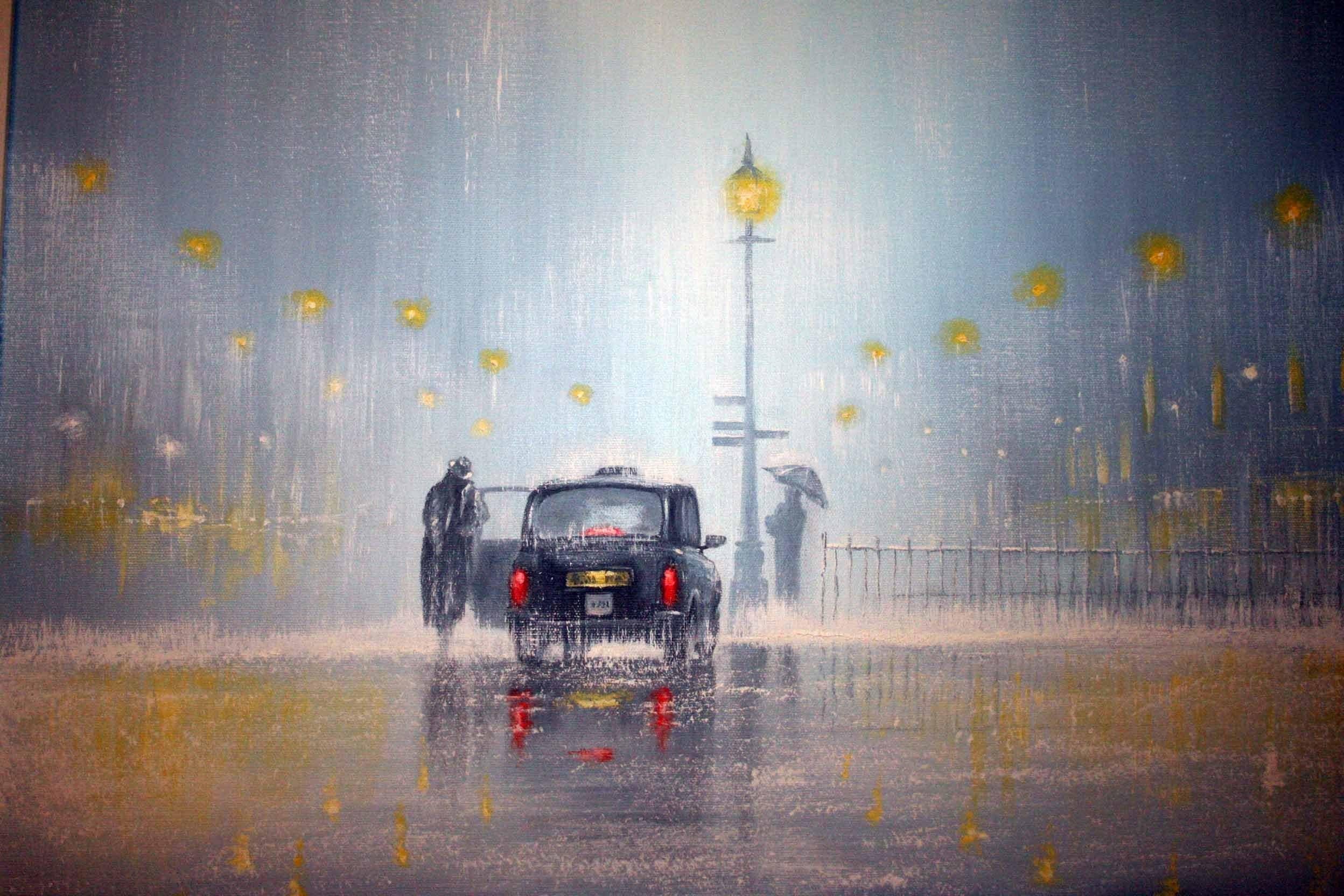 Masaüstü Boyama Araba Yansıma Yağmur Ingiltere Akşam Sabah