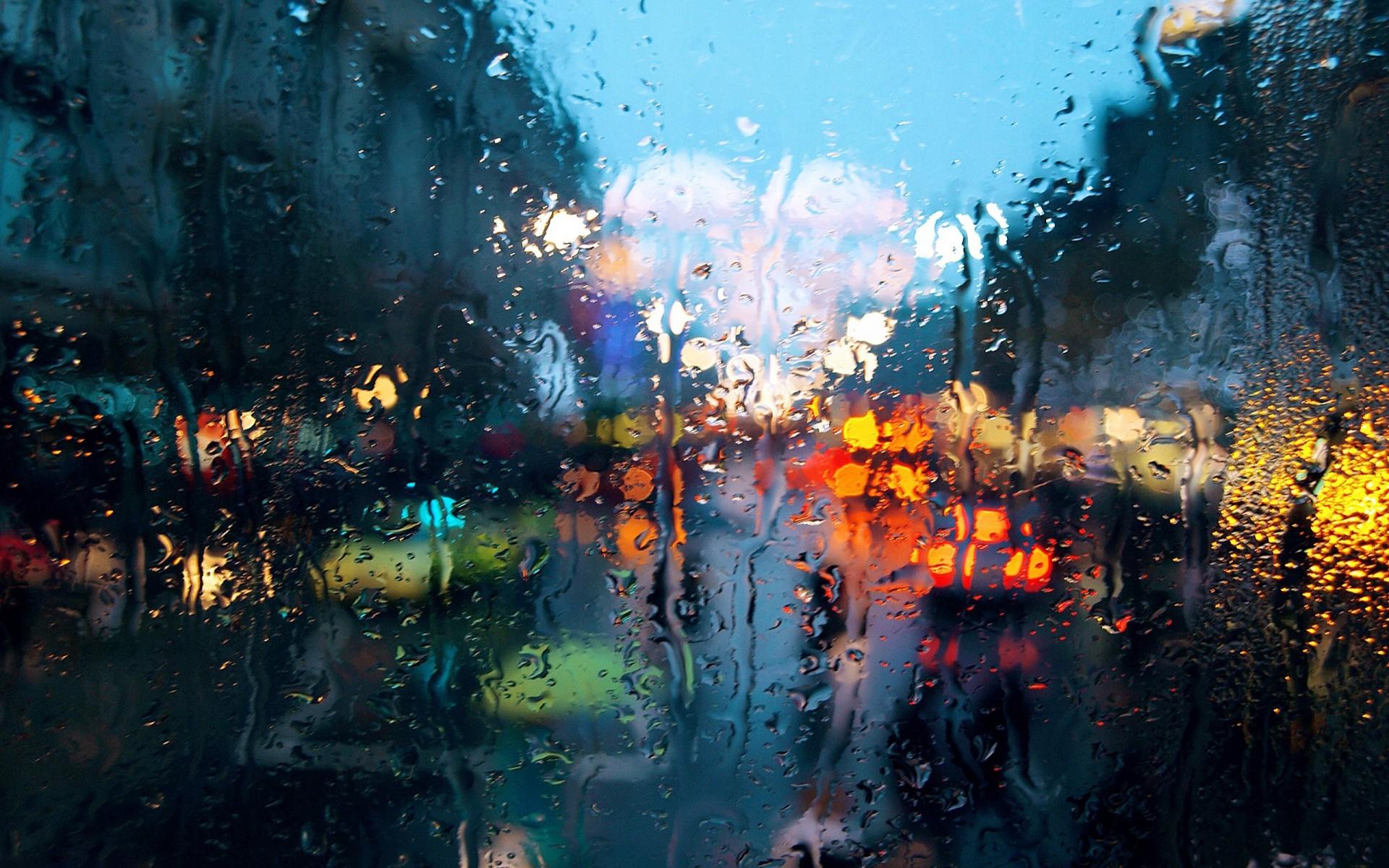 Painting City Water Reflection Sky Rain Evening World On Glass ART 1920x1200 Px Computer Wallpaper