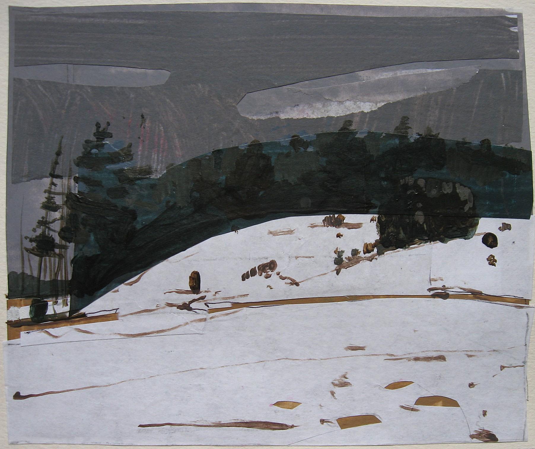 Hintergrundbilder : Malerei, Collage, Schnee, Winter, Kunstwerk ...