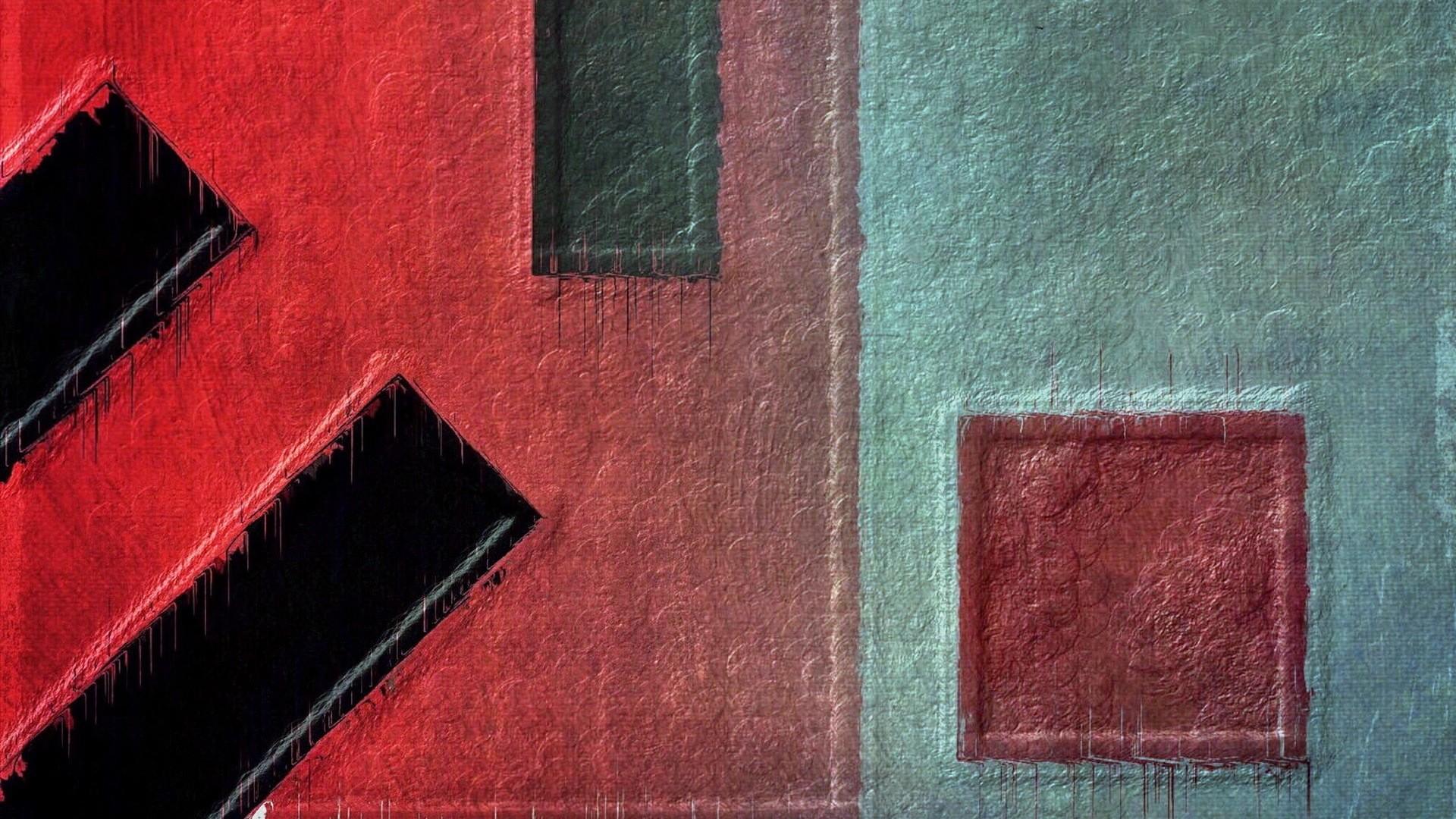 La Pittura Arte Digitale Astratto Minimalismo Rosso Parete Modello Geometria  Struttura Piazza Cerchio Vernice Splatter Rettangolo