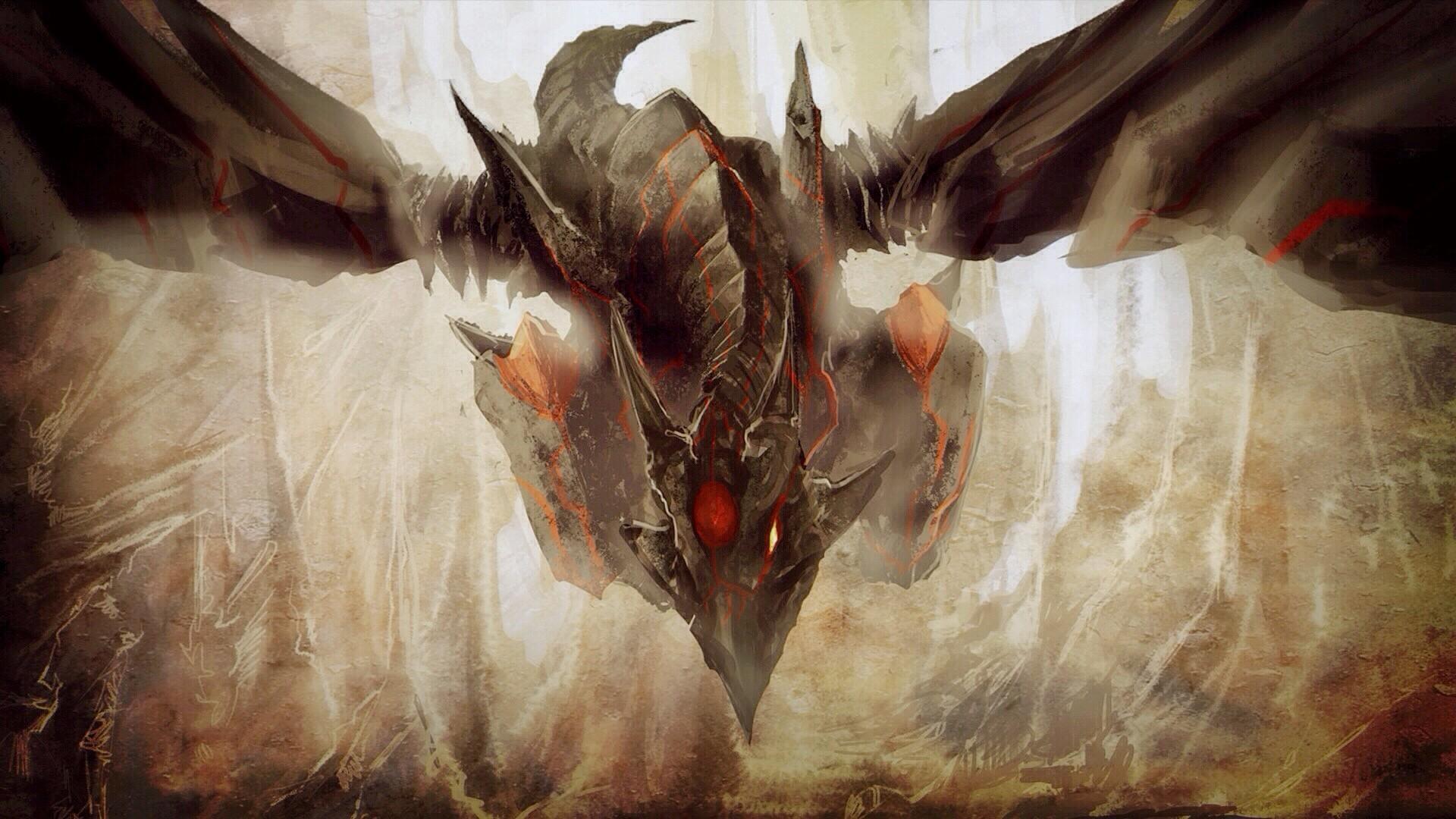 Wallpaper Painting Dragon Cave Mythology Trading Card Games
