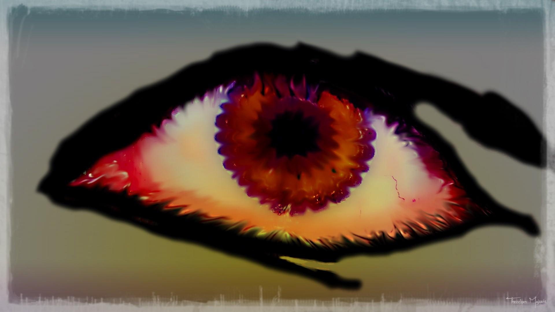 Fond Décran La Peinture Les Yeux Iris Couleur Fleur œil