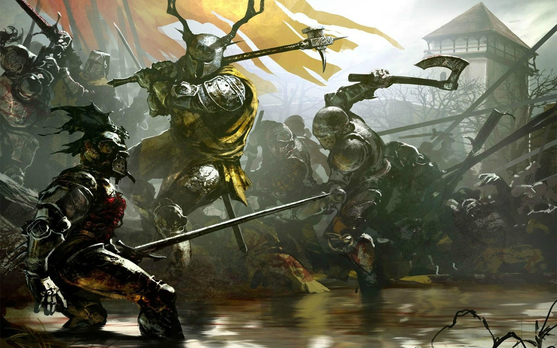 Wallpaper : Painting, Fantasy Art, Battle, Soldier