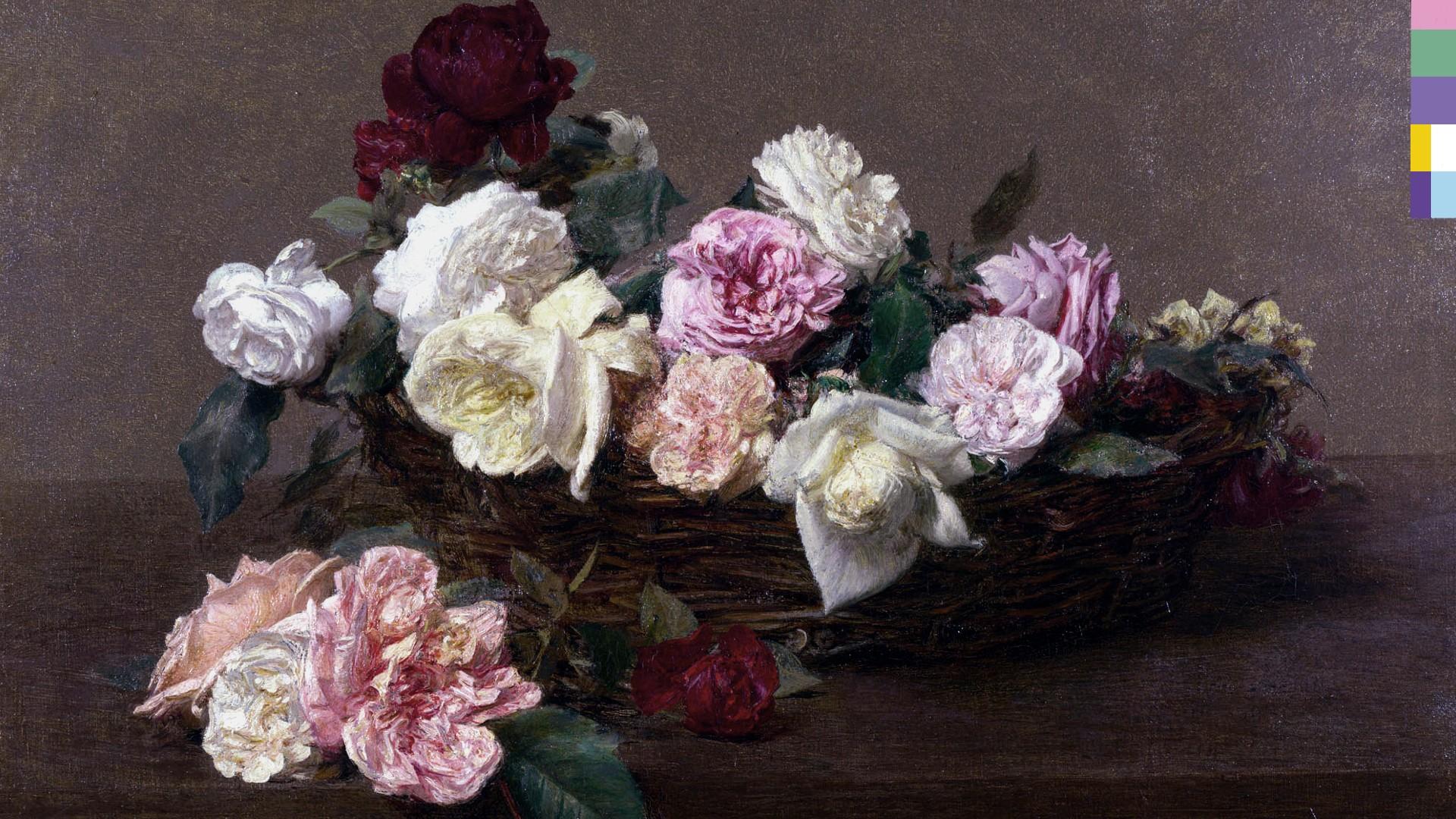 Masaüstü Boyama çiçekler Müzik Kapak Resmi Albüm Kapakları