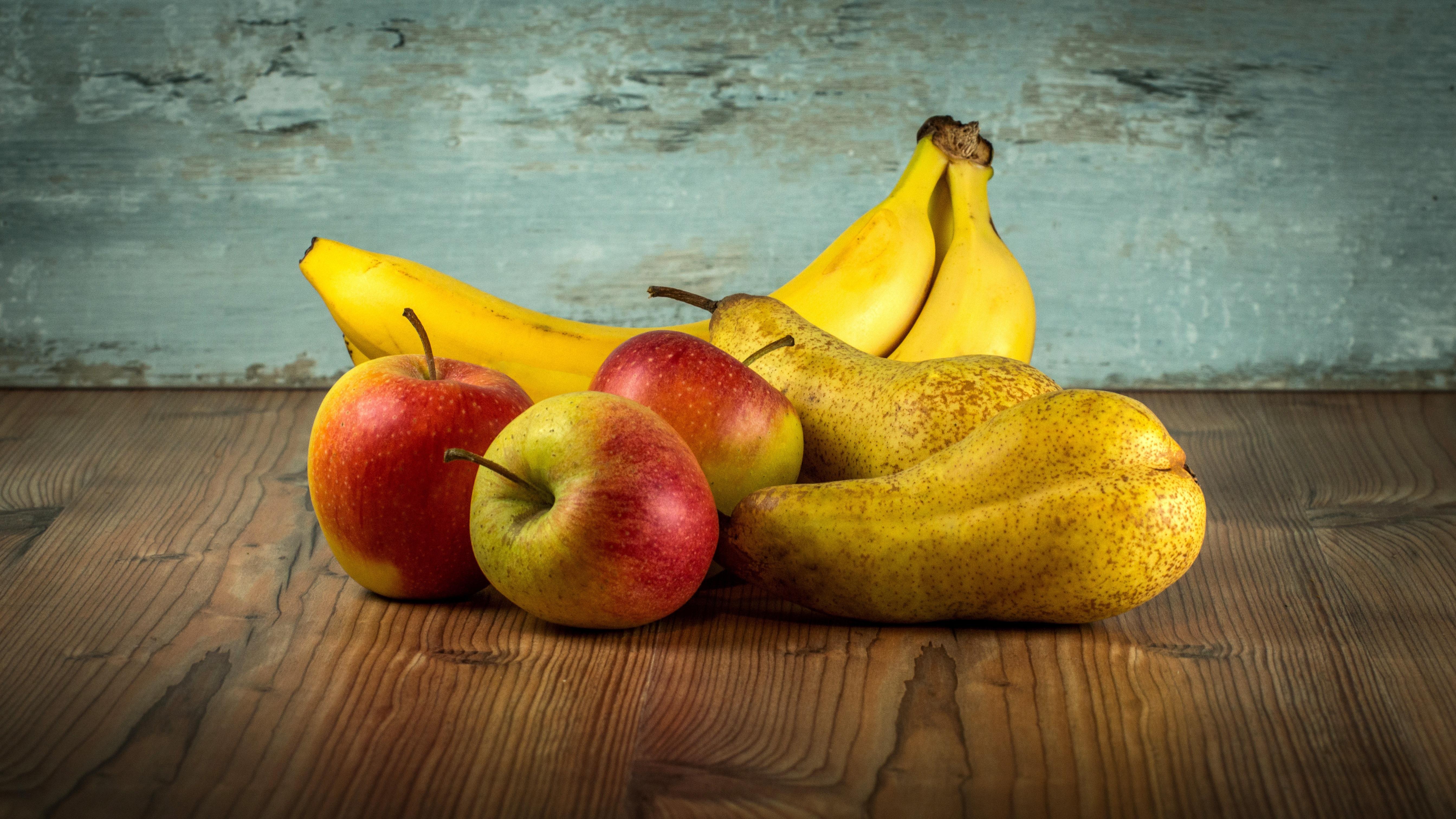 wallpaper : painting, food, fruit, yellow, apples, bananas, pears