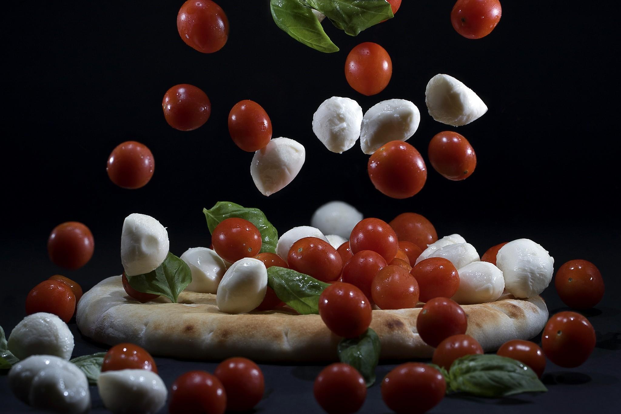 Masaüstü Boyama Gıda Domates Kırmızı Meyve Pizza üretmek