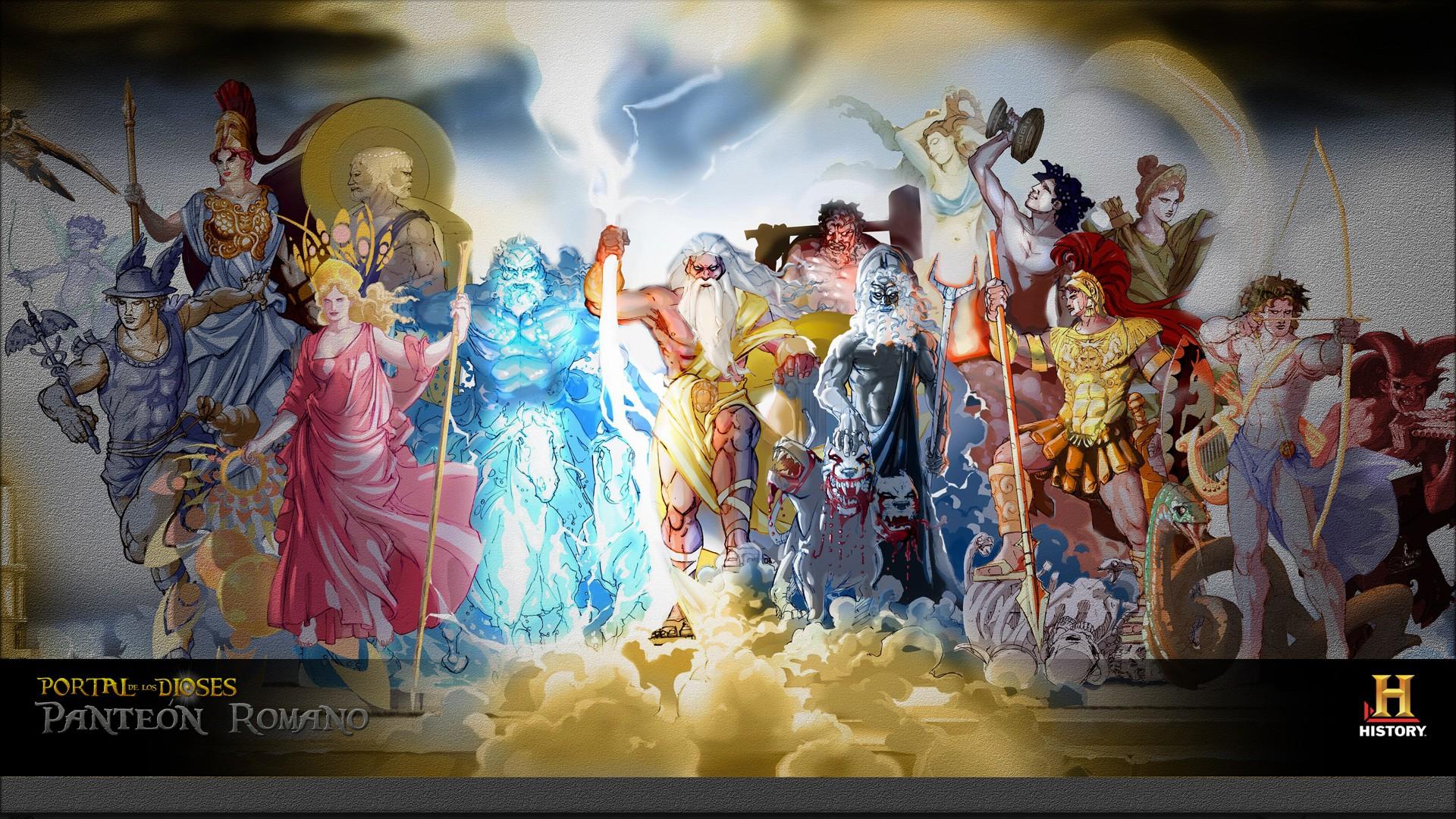 Wallpaper : painting, historic, gods, history, Roman ...