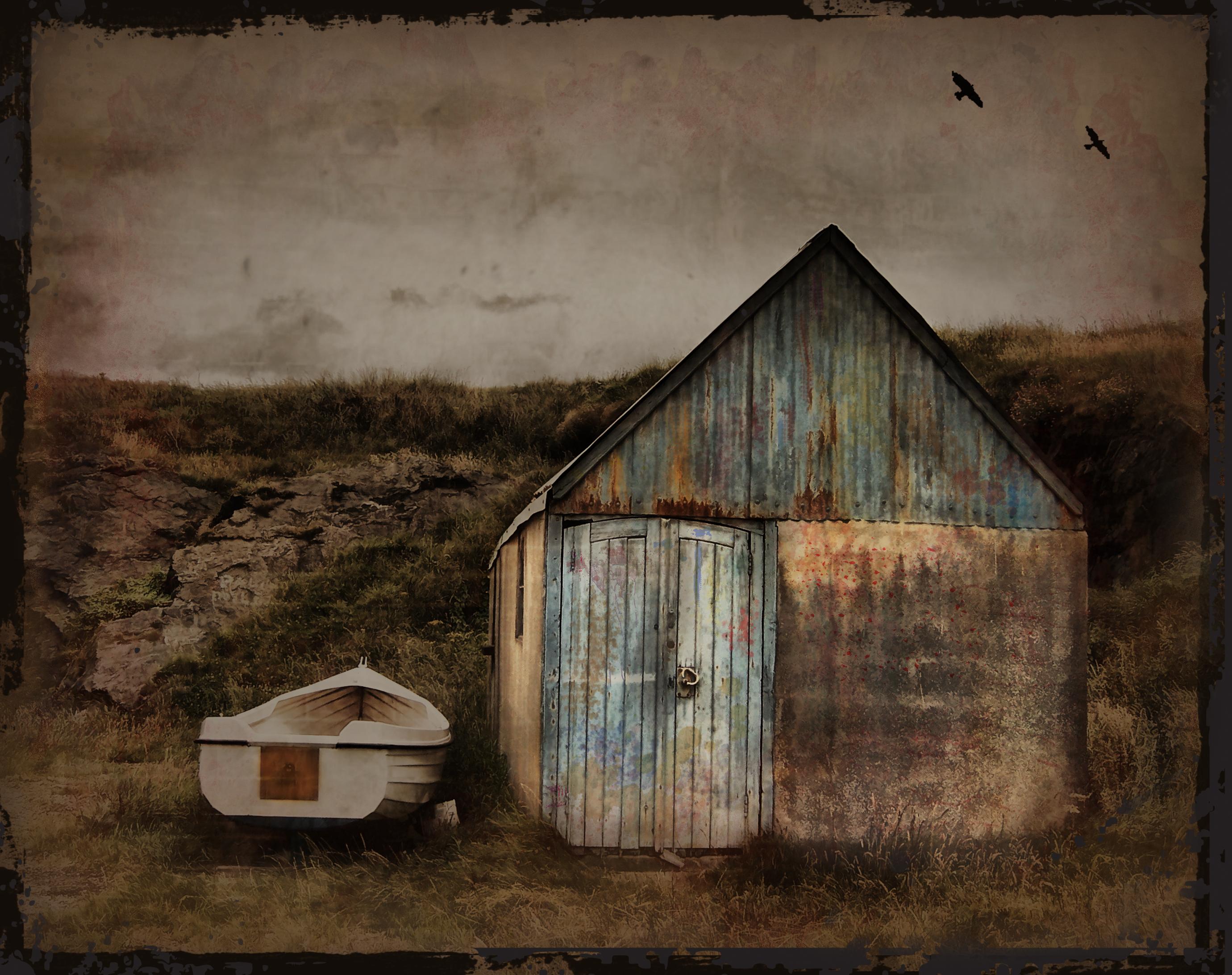 fond d 39 cran la peinture maison cabane grange bois cabanon fen tre ciel visual arts. Black Bedroom Furniture Sets. Home Design Ideas