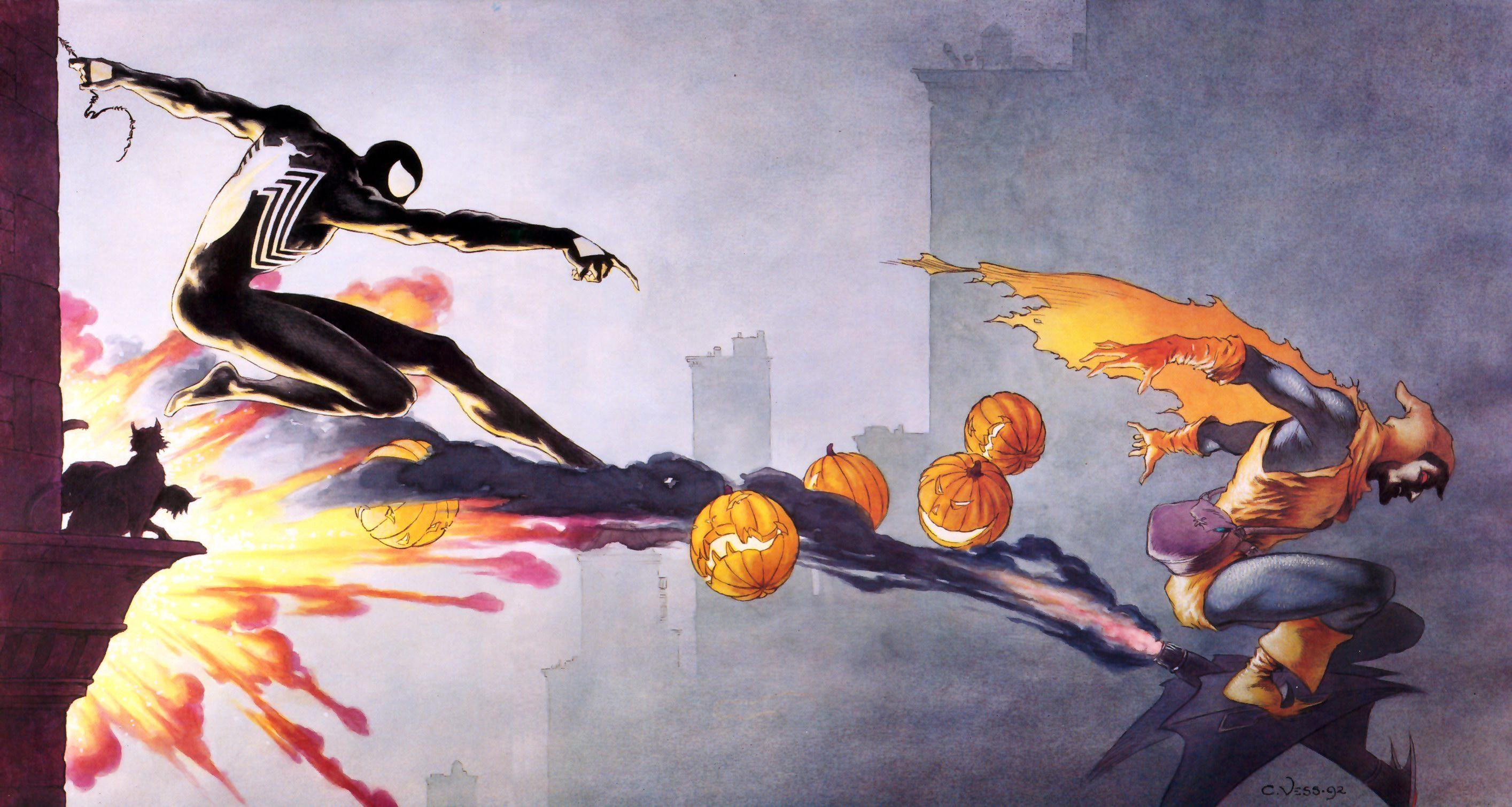 Modern Spider Man Comic Art