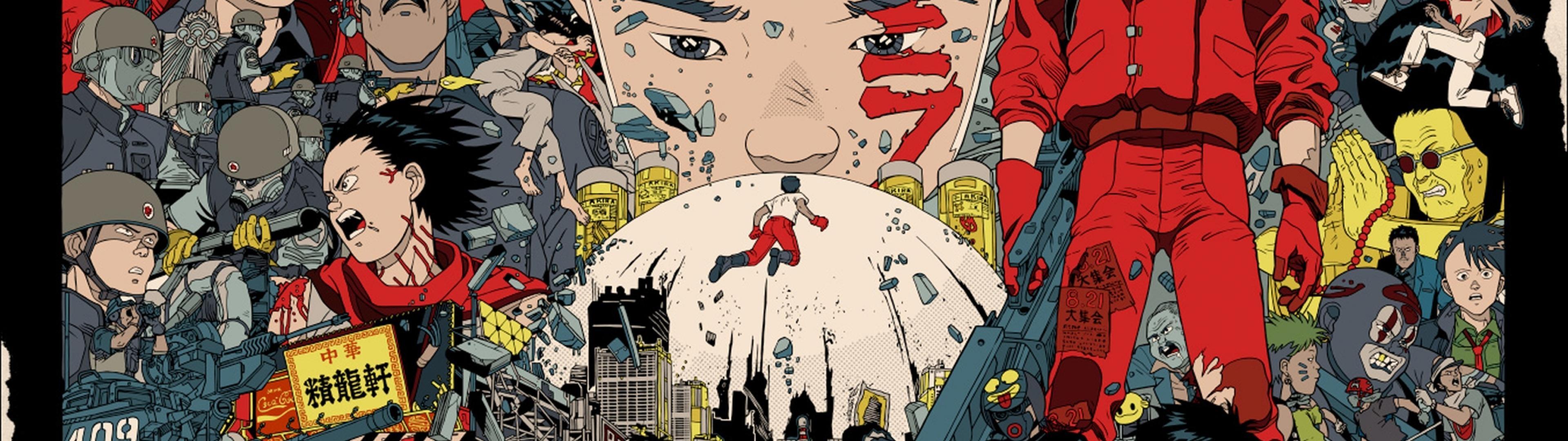 Wallpaper Painting Illustration Collage Comics Akira