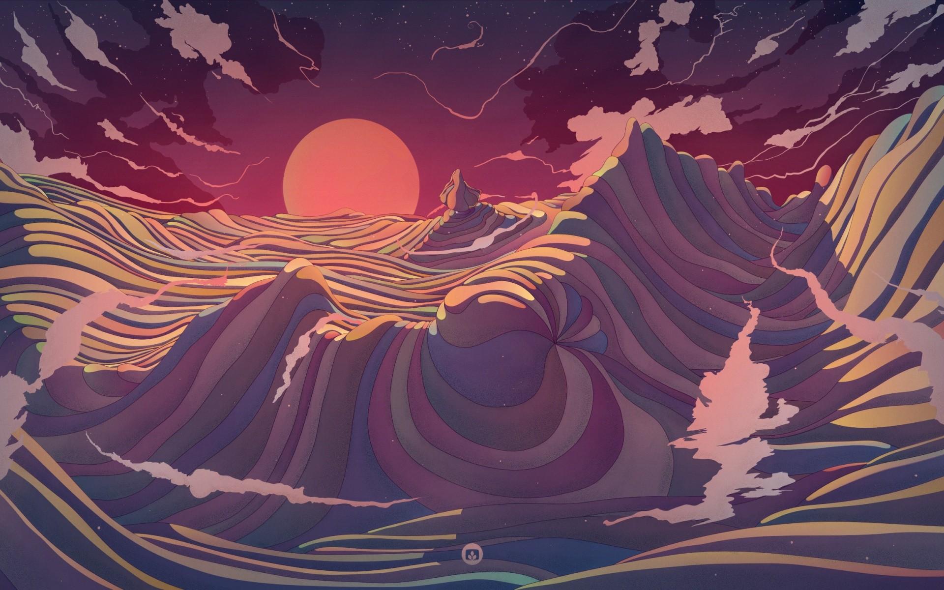 Abstract Art Red Sky Desktop Hd Artworks Desktop: Wallpaper : Painting, Illustration, Digital Art, Fantasy