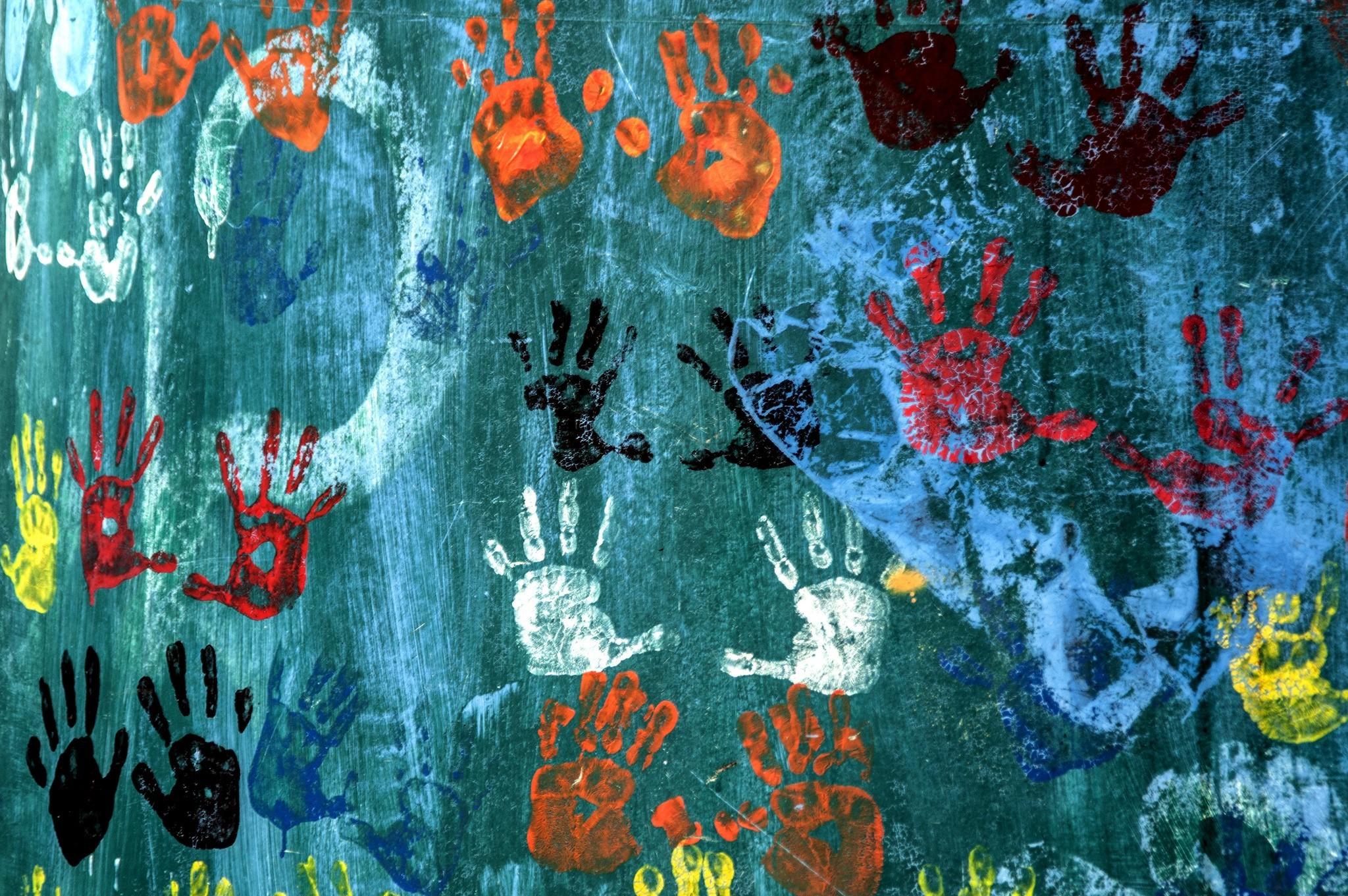 Masaüstü Boyama Illüstrasyon Doku El Izleri Sanat Renk