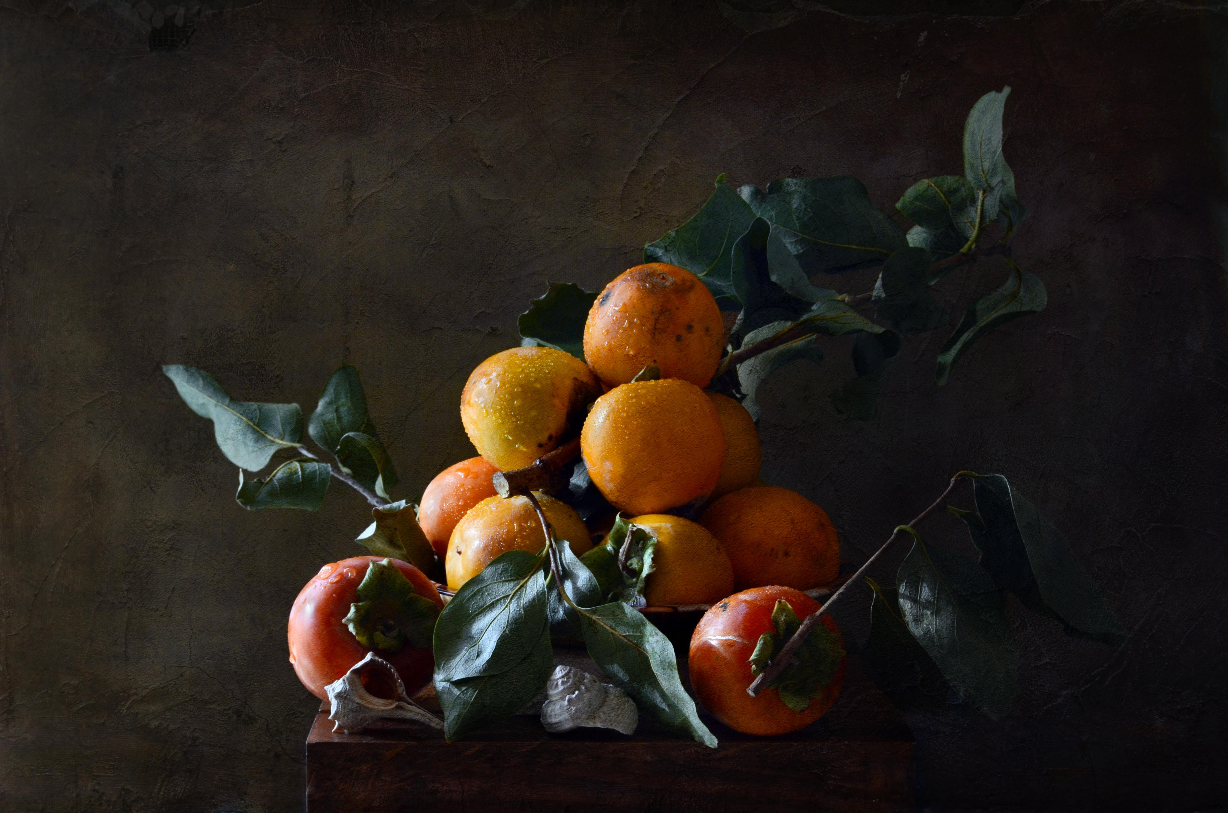 Masaustu Boyama Yapraklar Gida Resim Meyve Mandalina