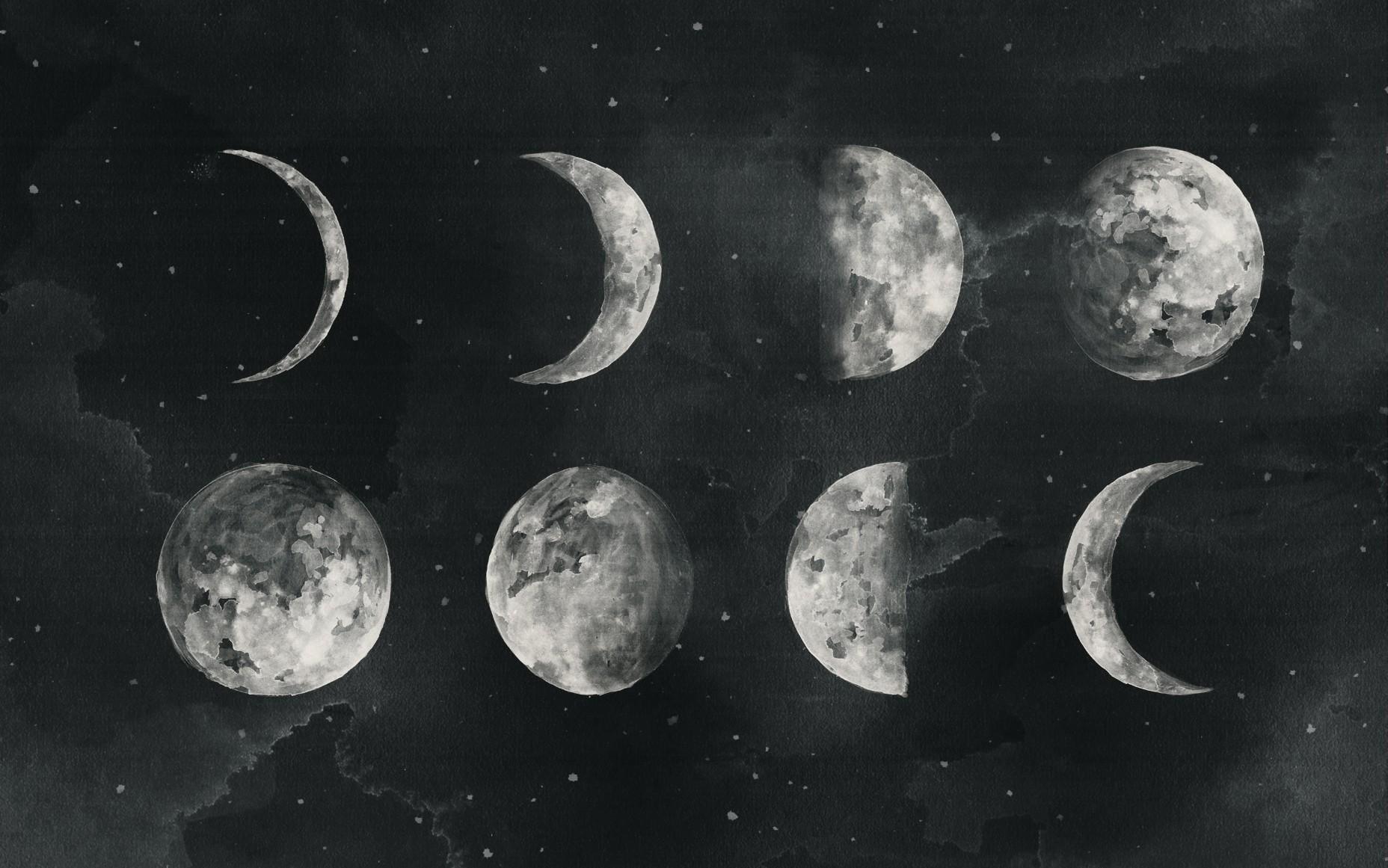 технология картинка новолуние рост луны высокая температура это