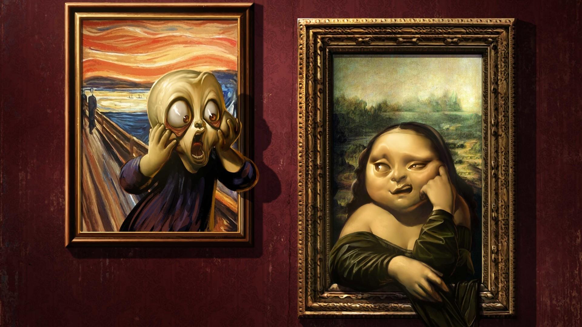 Fondos de pantalla : pintura, retrato, ventana, humor, pared, Obra ...