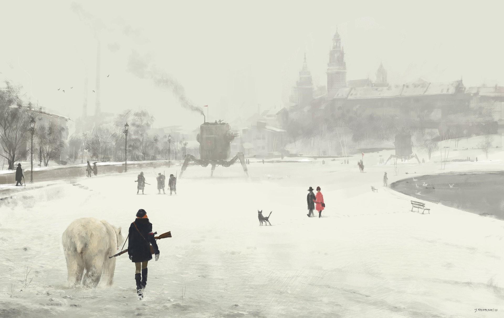 Masaüstü Boyama Kar Buz Soğuk Steampunk Dondurucu Hava