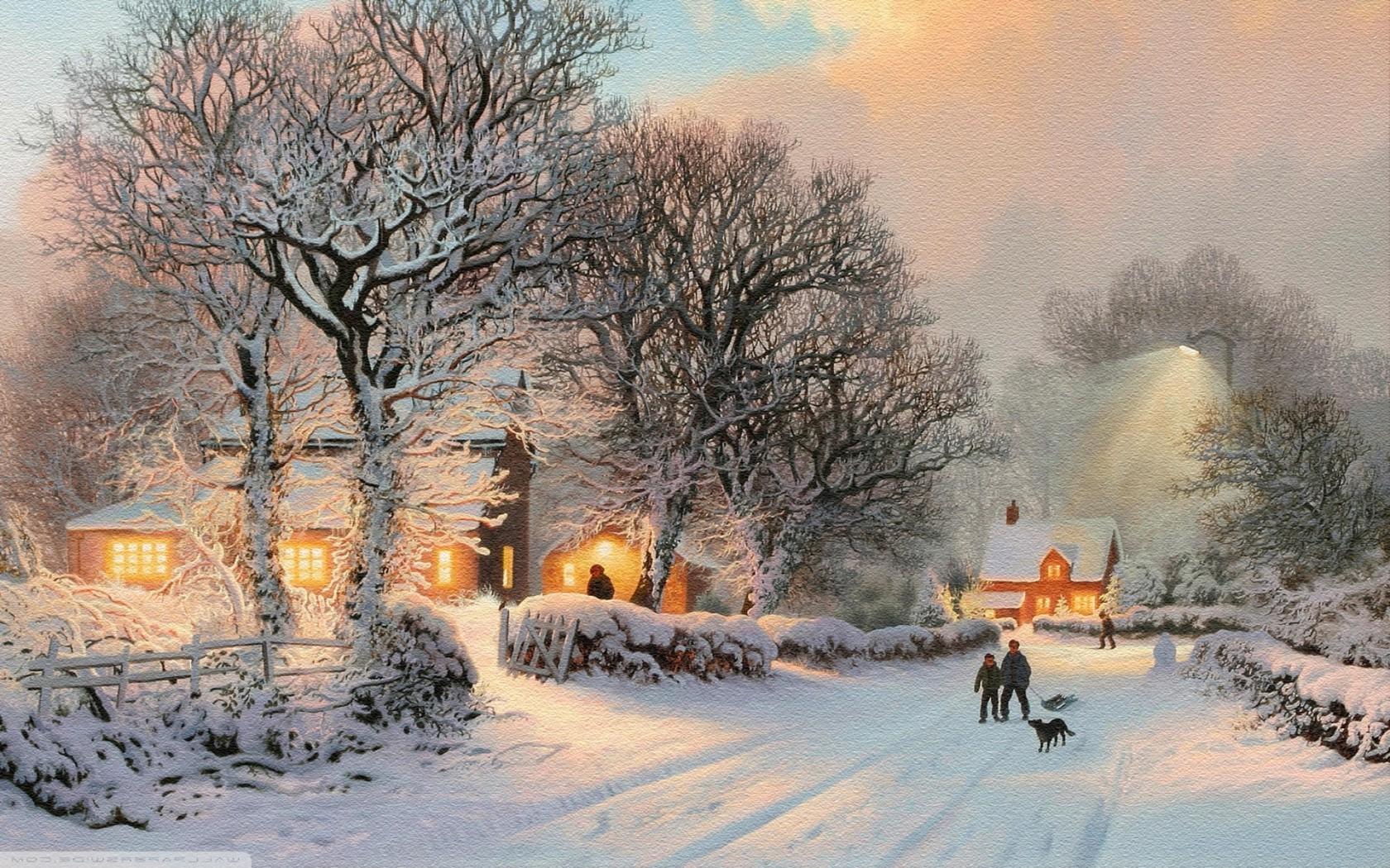 Masaüstü Boyama Kar Sabah Don Ağaç Hava Sezon Kar Fırtınası