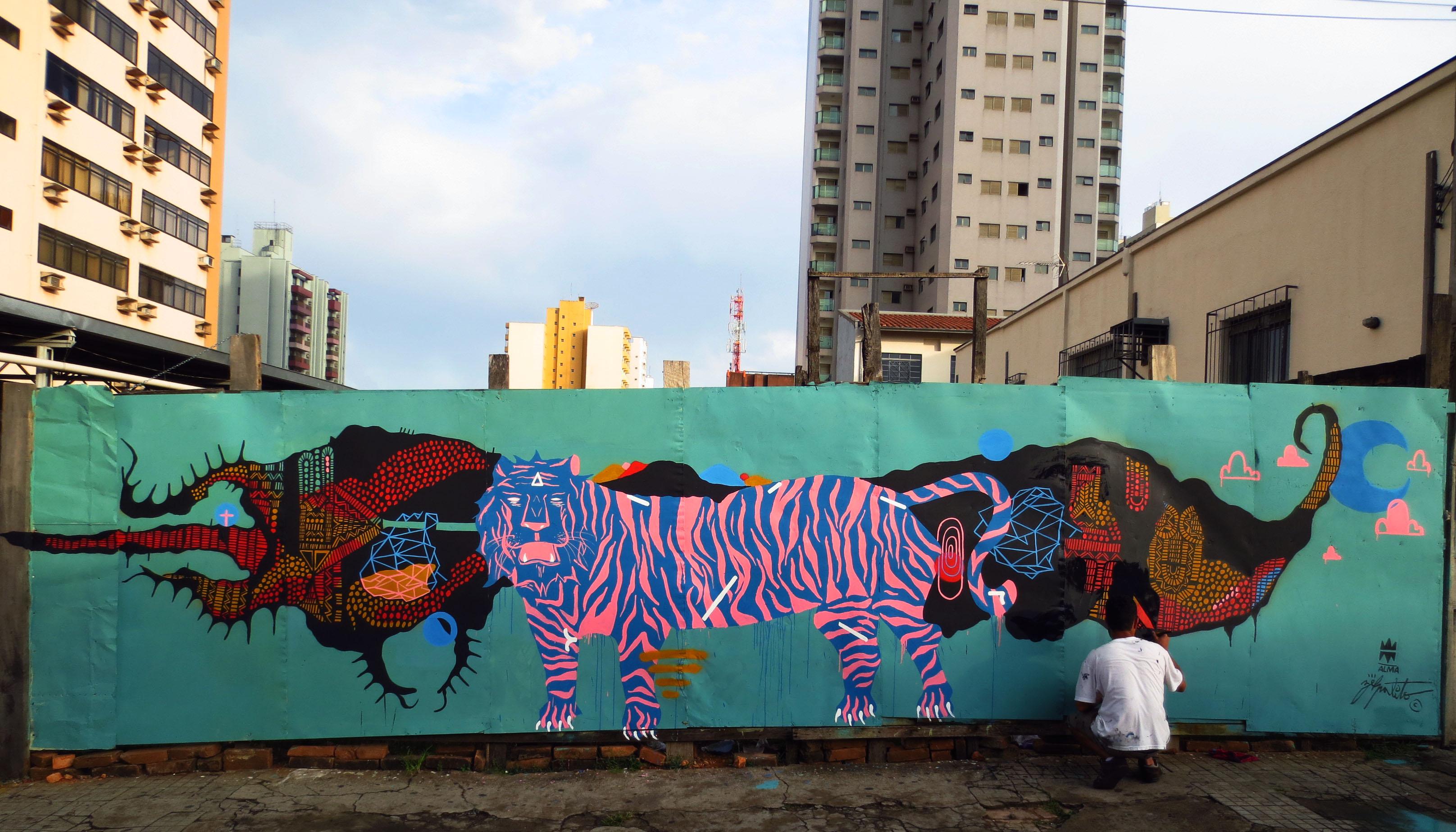Painting Street Wall Artwork Tiger Graffiti African Art Mural ART Streetart Contemporaryart Urbanart Saopaulo Artecontemporanea