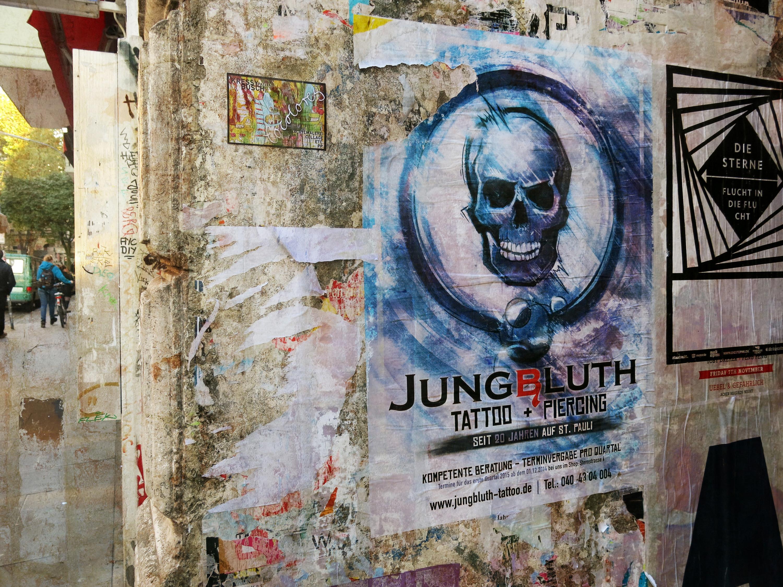 Painting Street Wall Road Skull Graffiti Art Hamburg Mural Plakat ART Therubyawardsinvitation Strasse Yef Peterfey