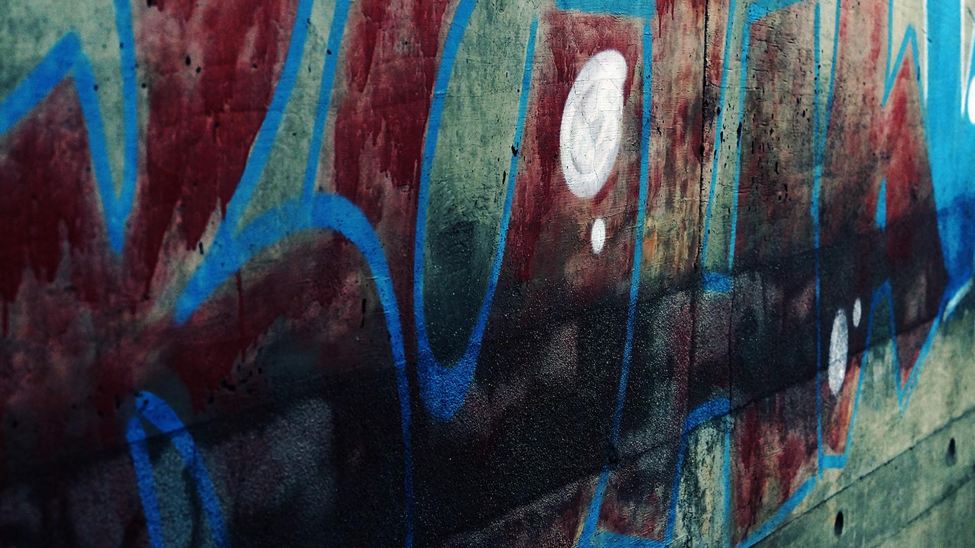 Fond D écran La Peinture Urbain Rouge Mur Bleu