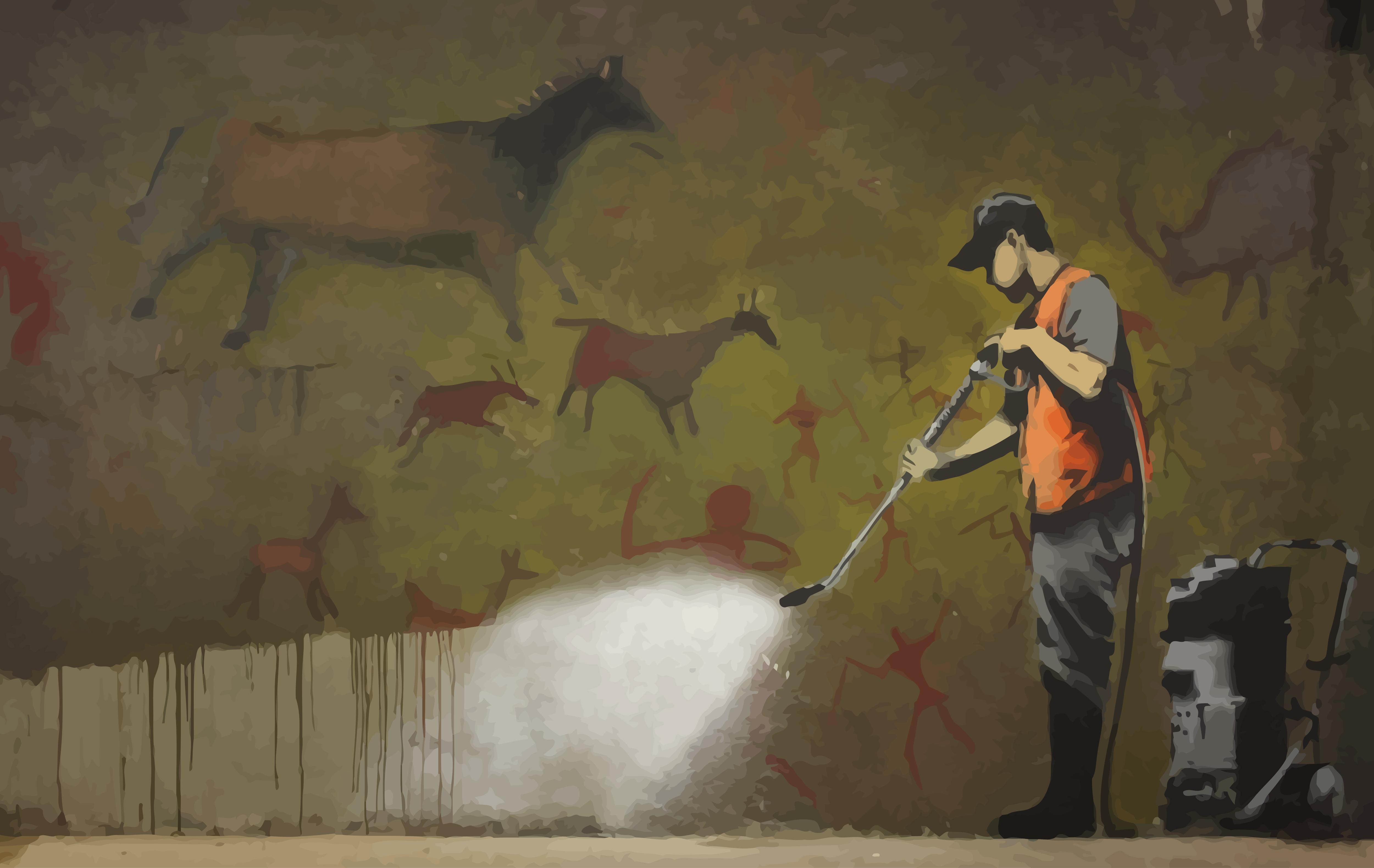Painting Wall Graffiti Street Art Mural Banksy ART