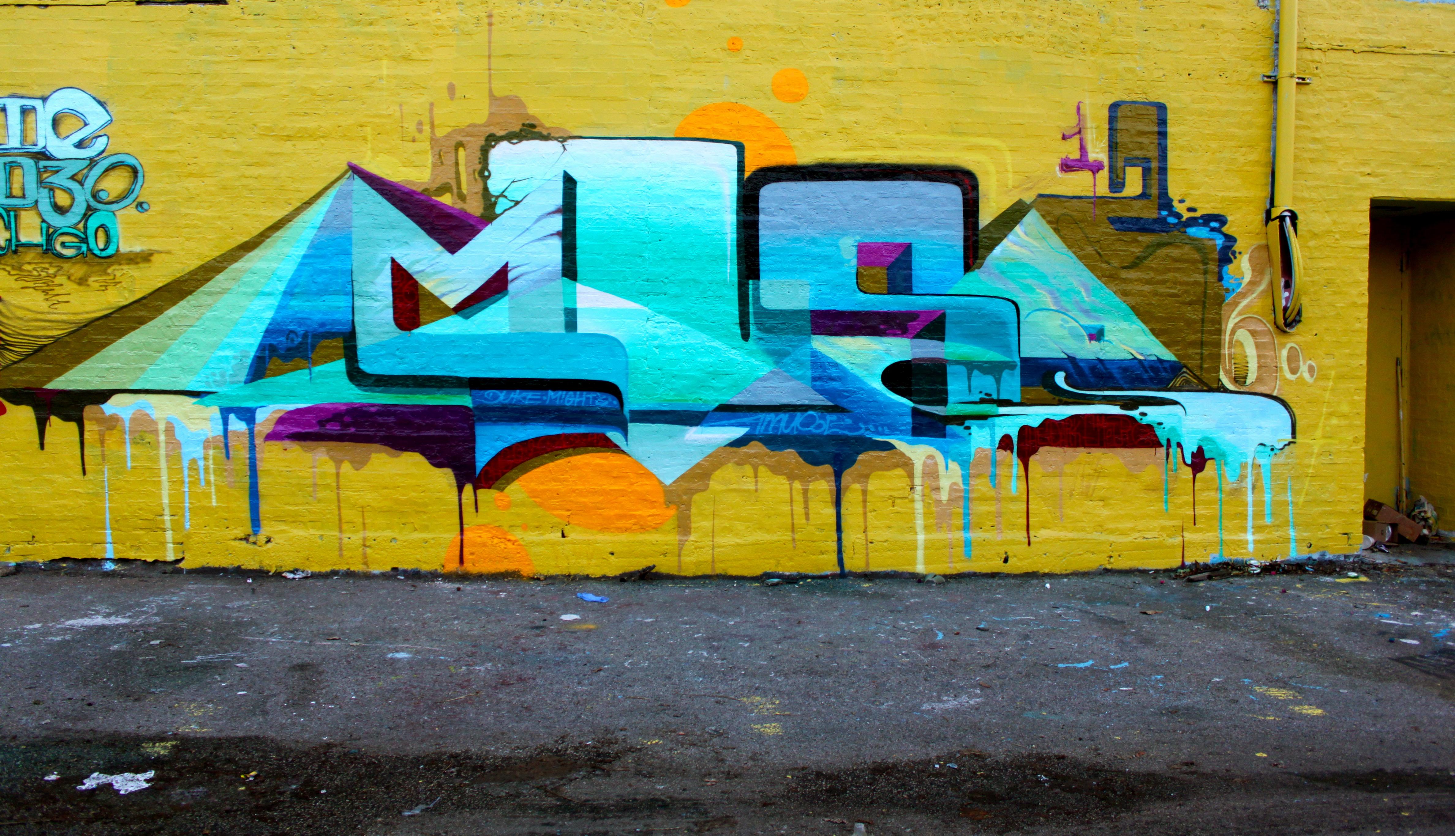 Wallpaper Painting Wall Yellow Graffiti Street Art Chicago