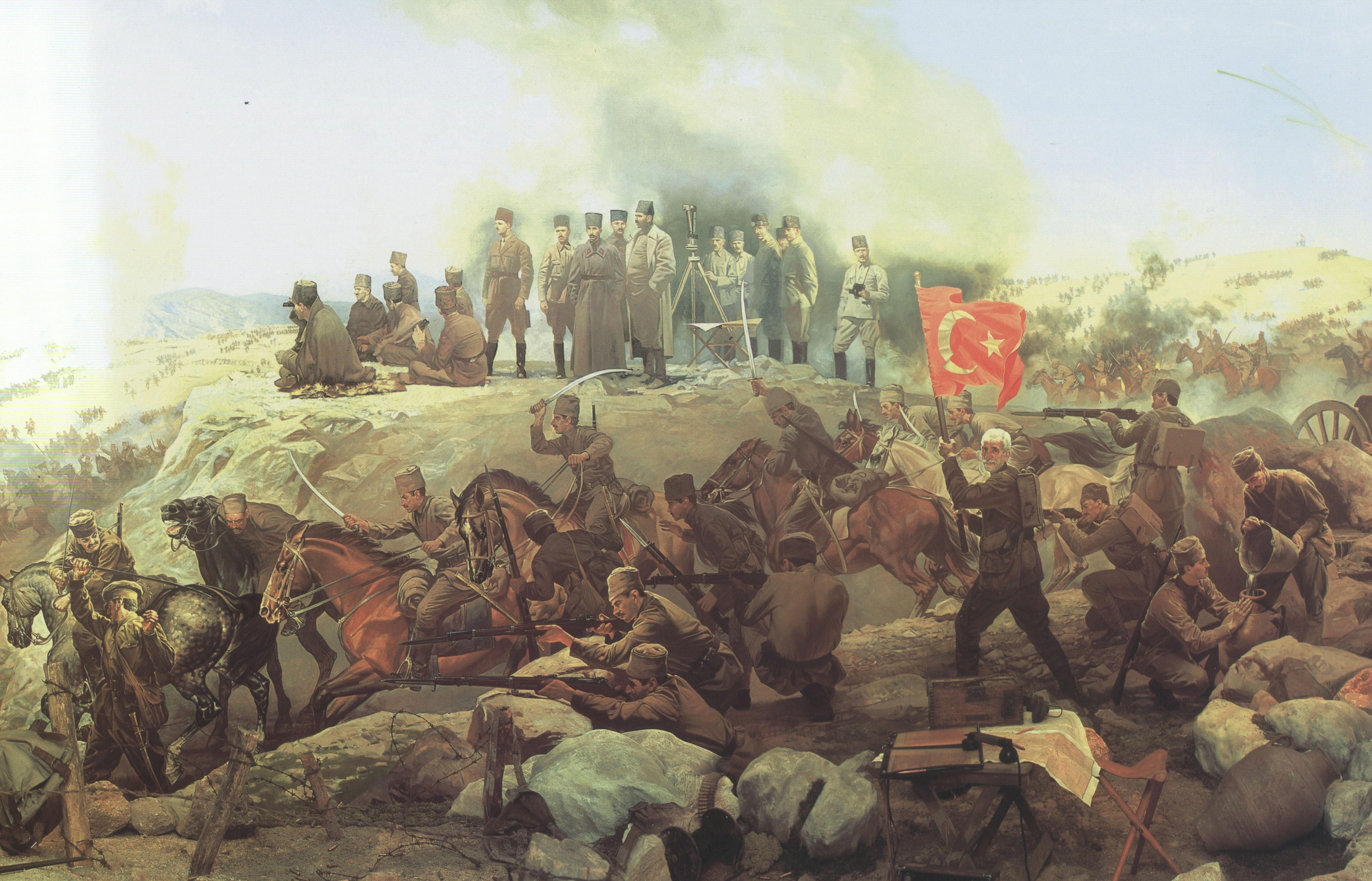 Masaustu Boyama Savas Resim Asker Bayrak Turkiye Tarih