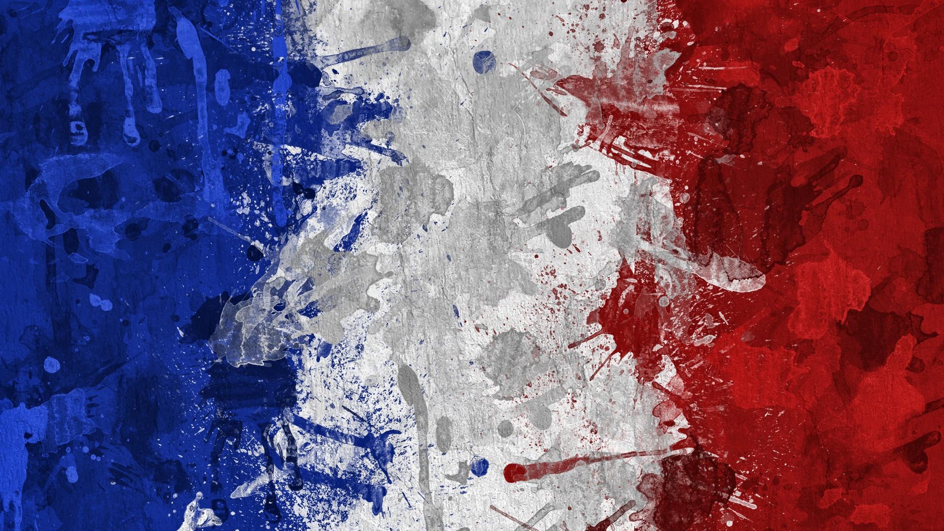 Fond Décran La Peinture Blanc Rouge Ouvrages Dart Bleu La