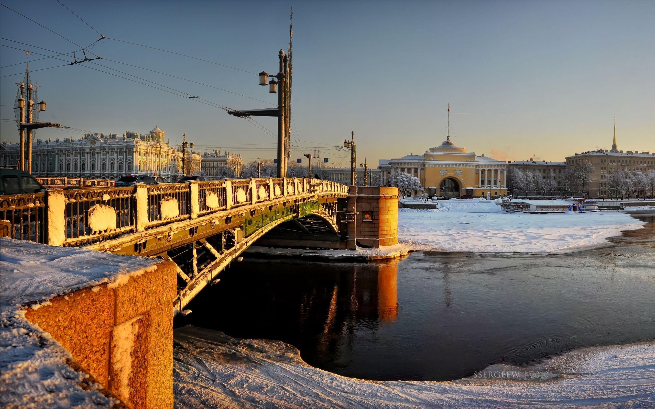 Baggrunde Palads Bro Vinterpaladset Sankt Petersborg