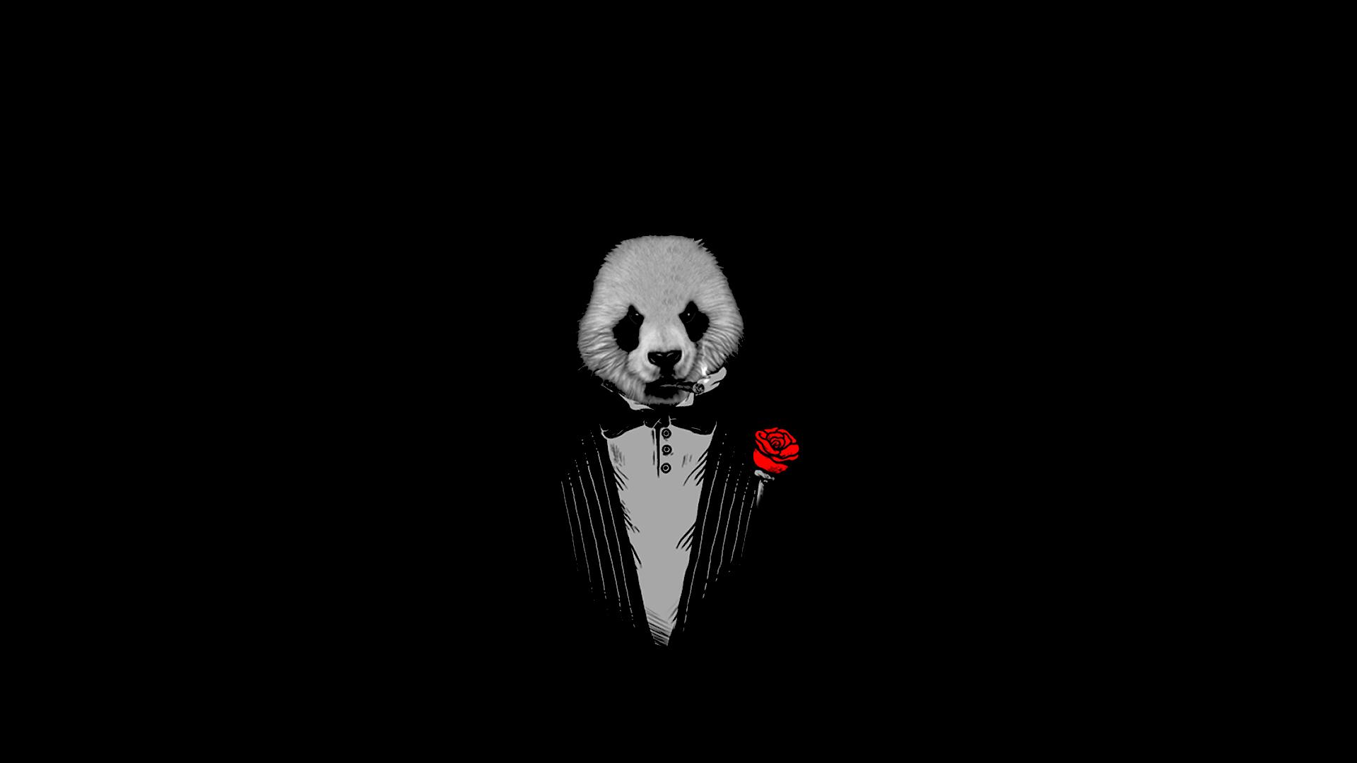 Panda The Godfather Black