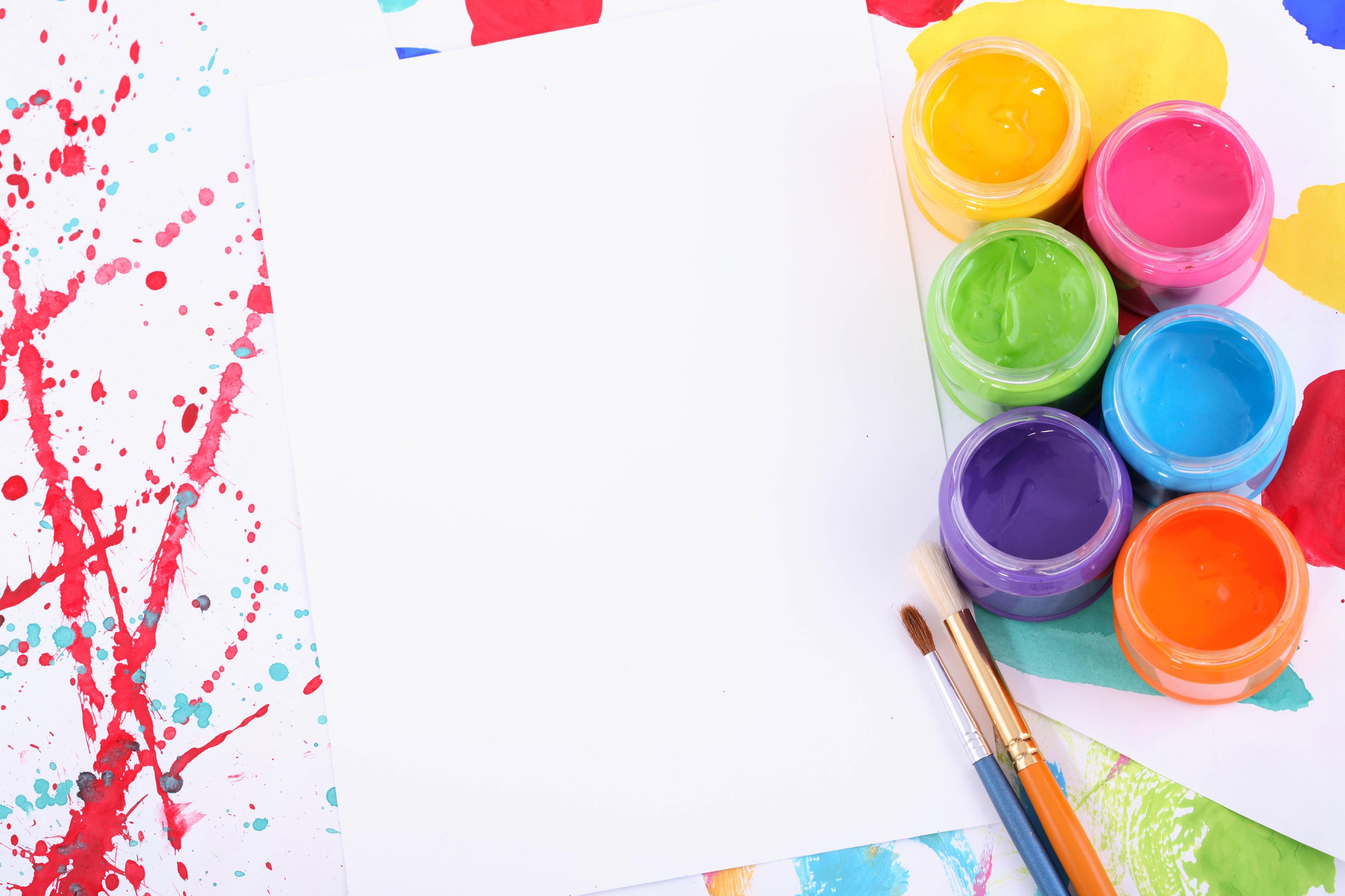 Paper Paint Brush Composition