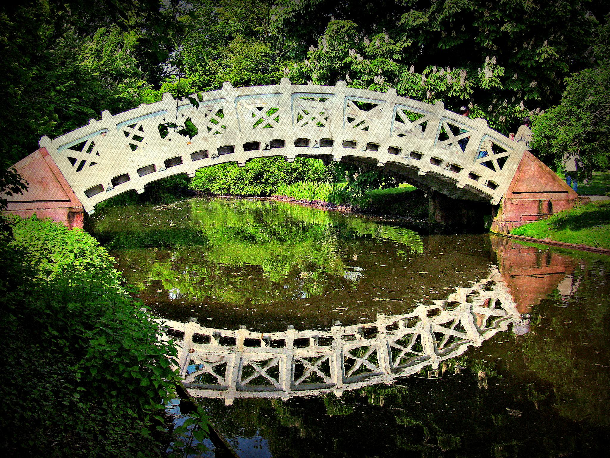 Fond d\'écran : parc, pont, réflexion, la nature, verre, Réflexions ...