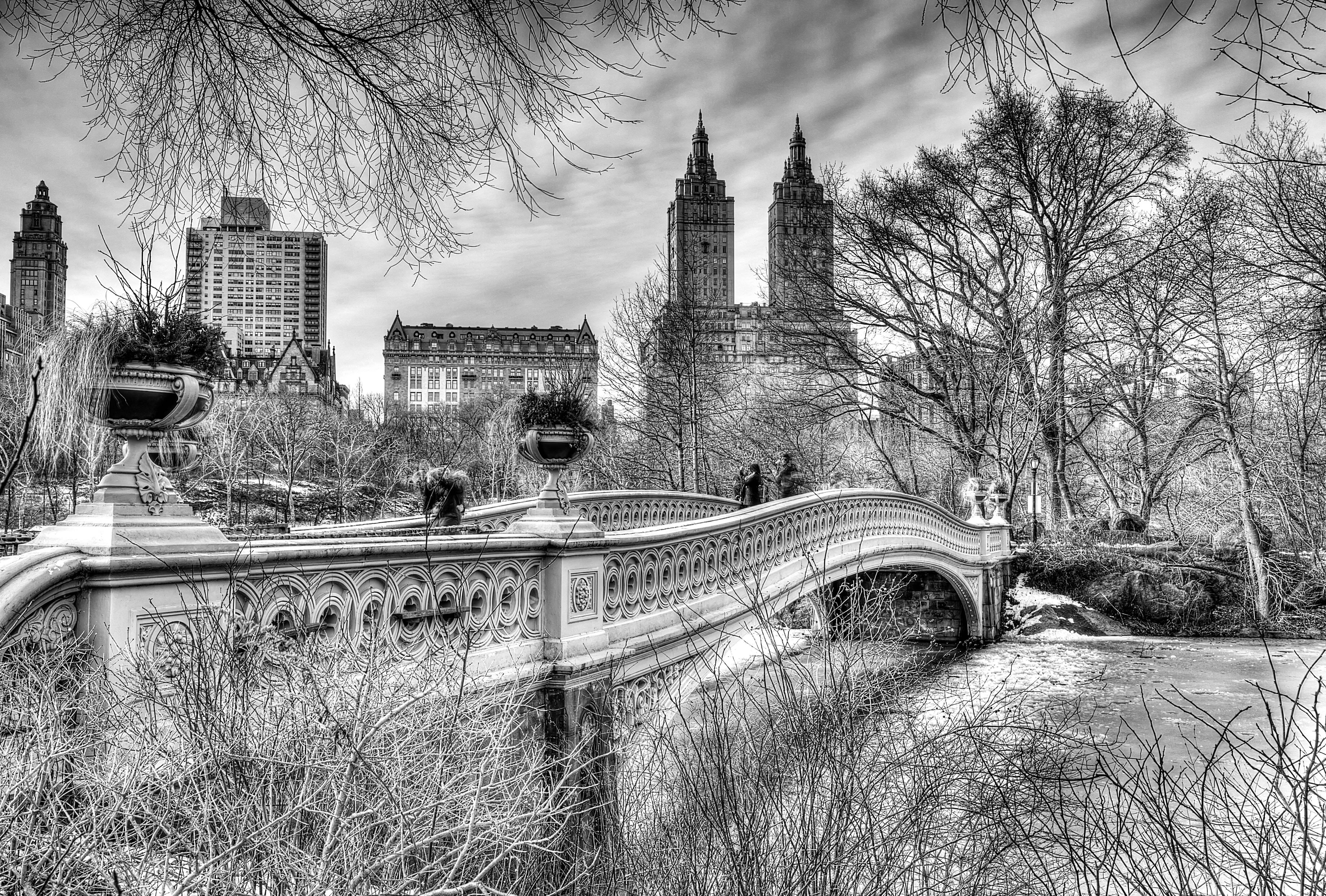 Обои Nyc, центральный парк, bow bridge. Города foto 9