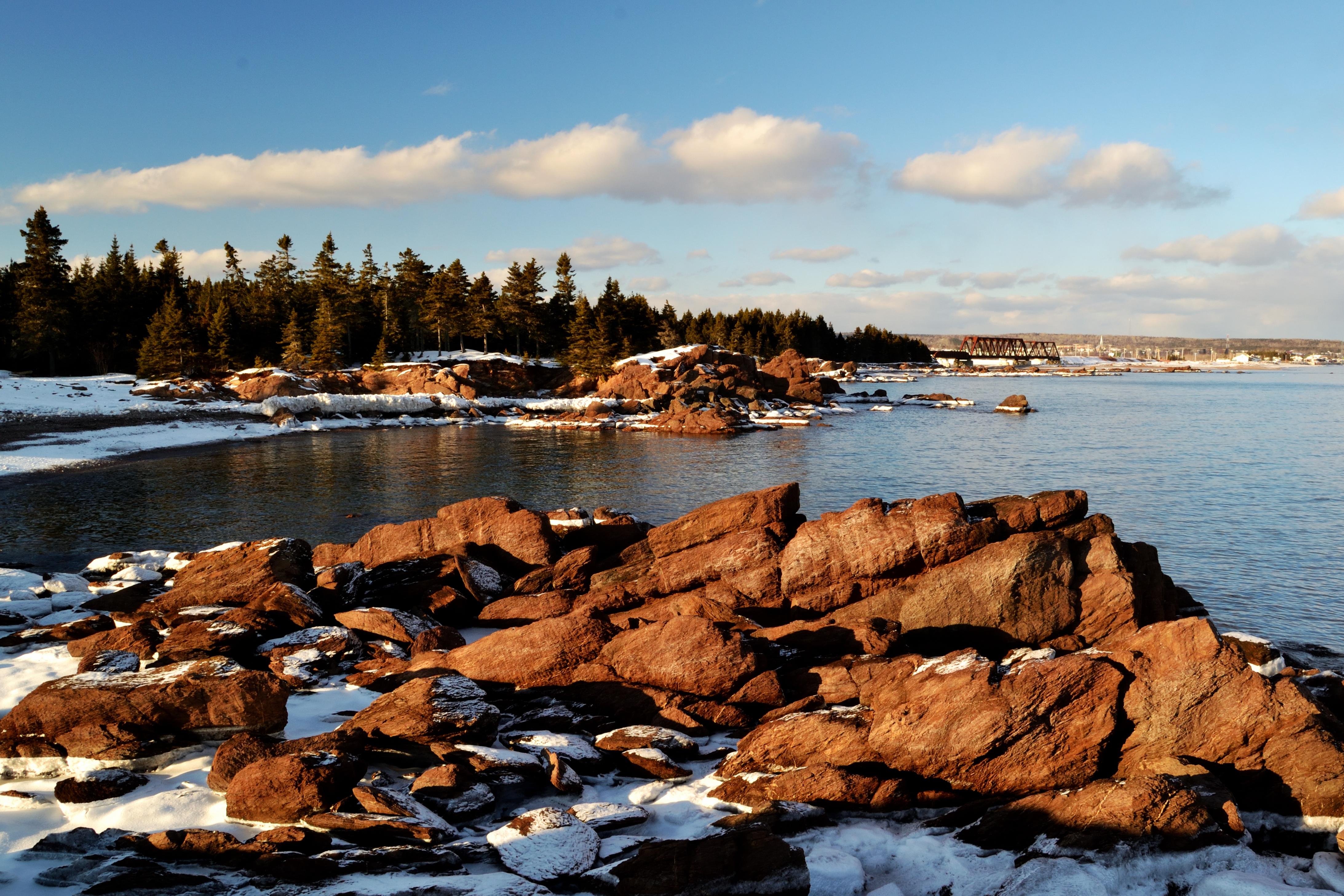 Wallpaper Paysage Landscape Eau Water Hiver Winter