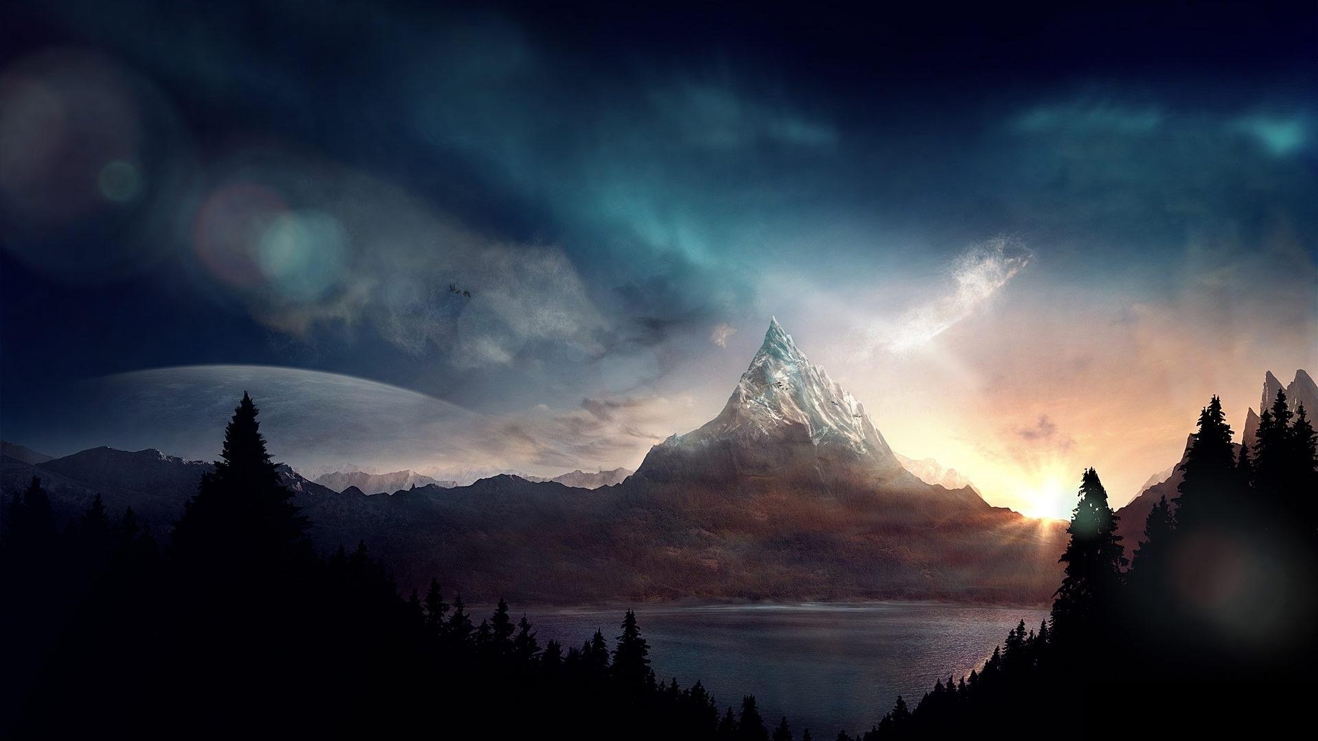 Best Wallpaper Mountain Art - peak-mountain-fantasy-ART-1064575  Perfect Image Reference_664100.jpg