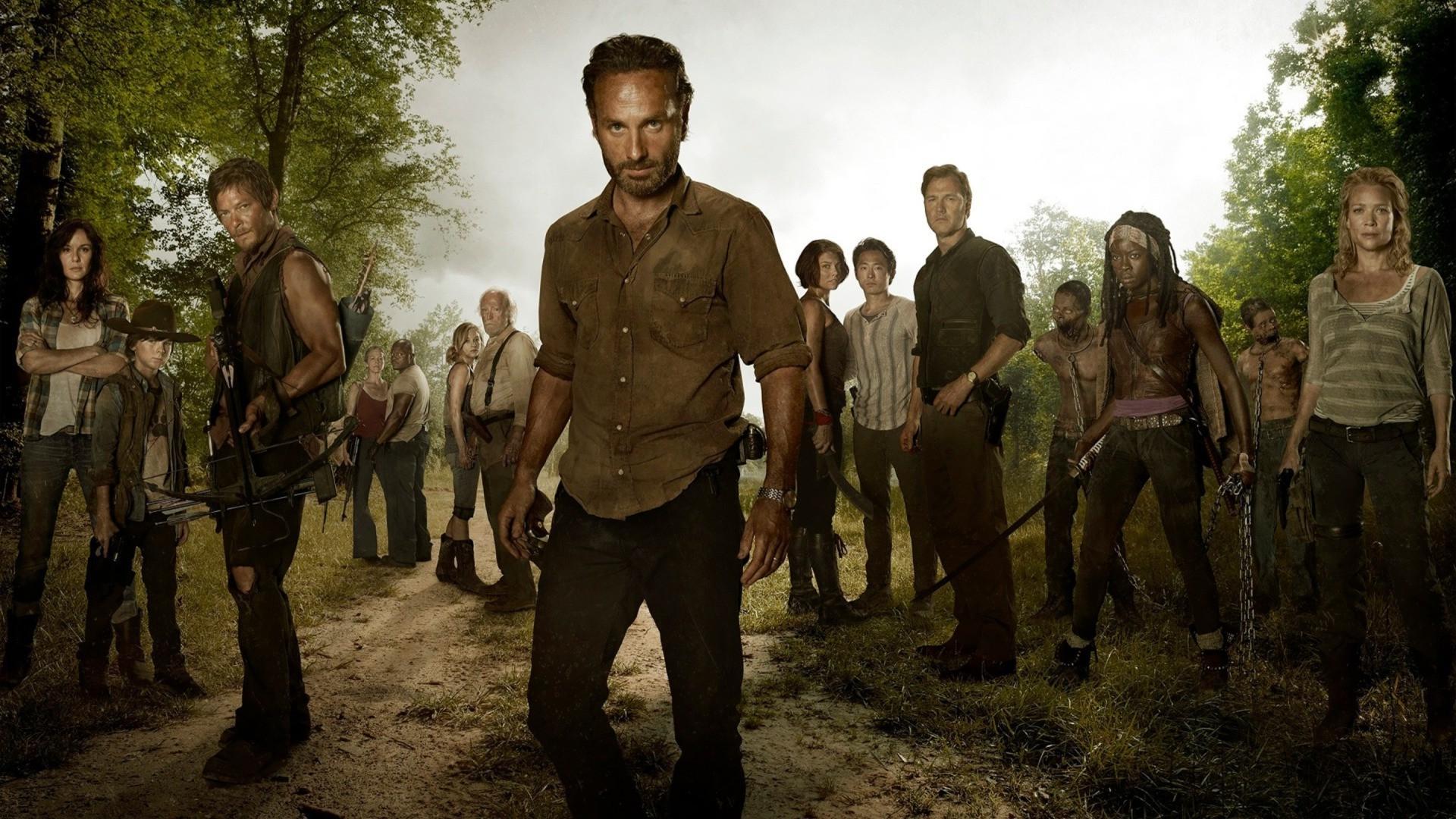 People The Walking Dead Person Rick Grimes Daryl Dixon Andrea Carl Michonne Screenshot 1920x1080 Px